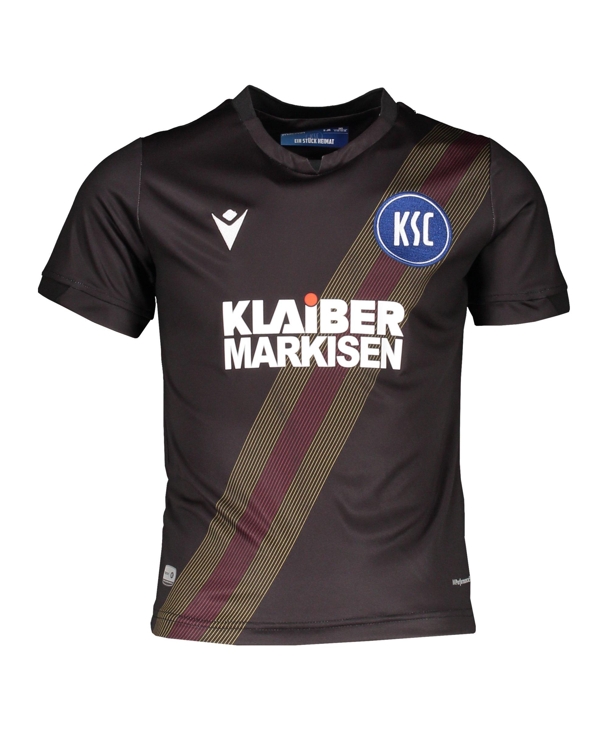 Macron Karlsruher SC Trikot 3rd 2020/2021 Kids Schwarz - schwarz
