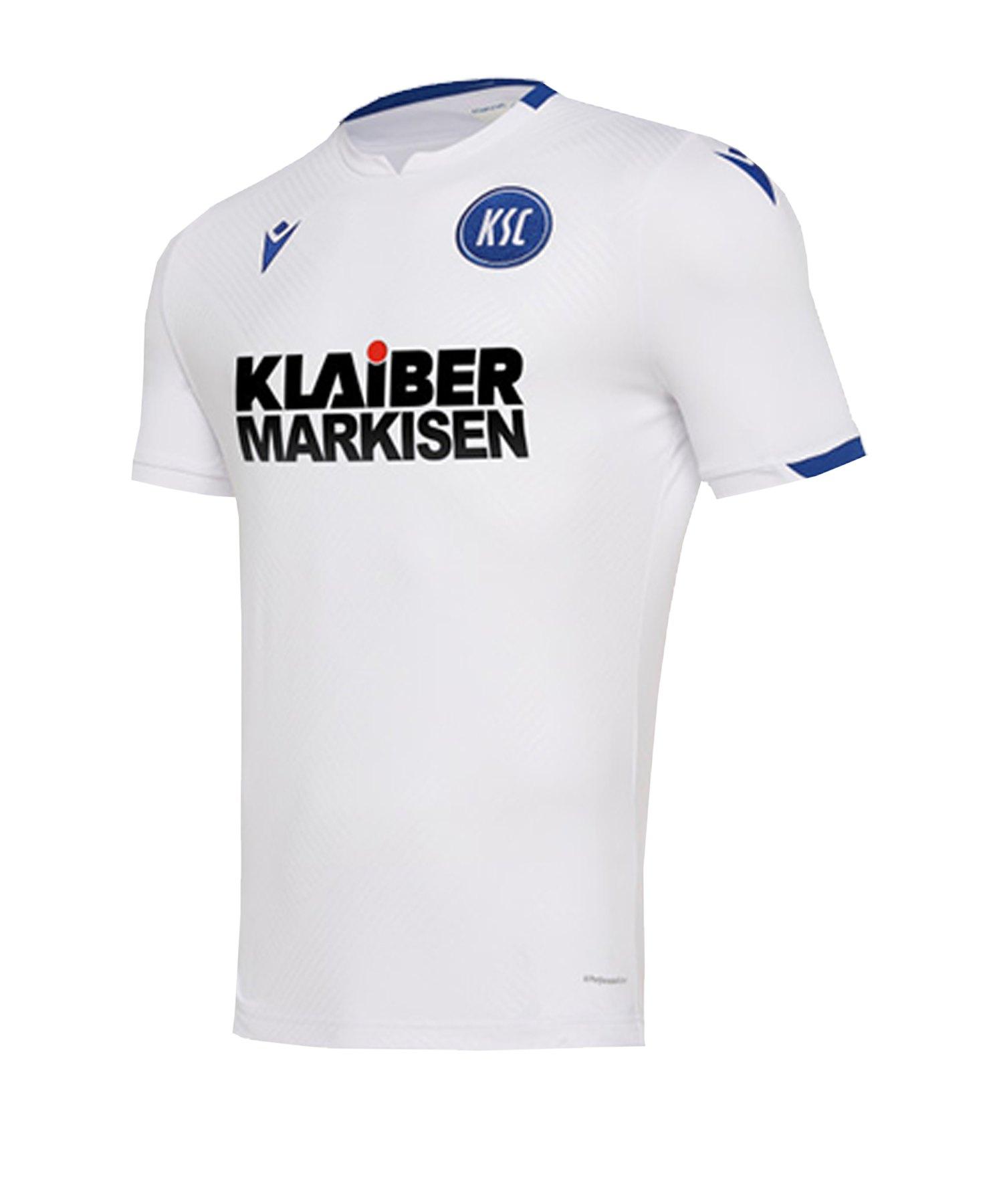 Macron Karlsruher SC Auth Trikot Away 2019/2020 Weiss - weiss