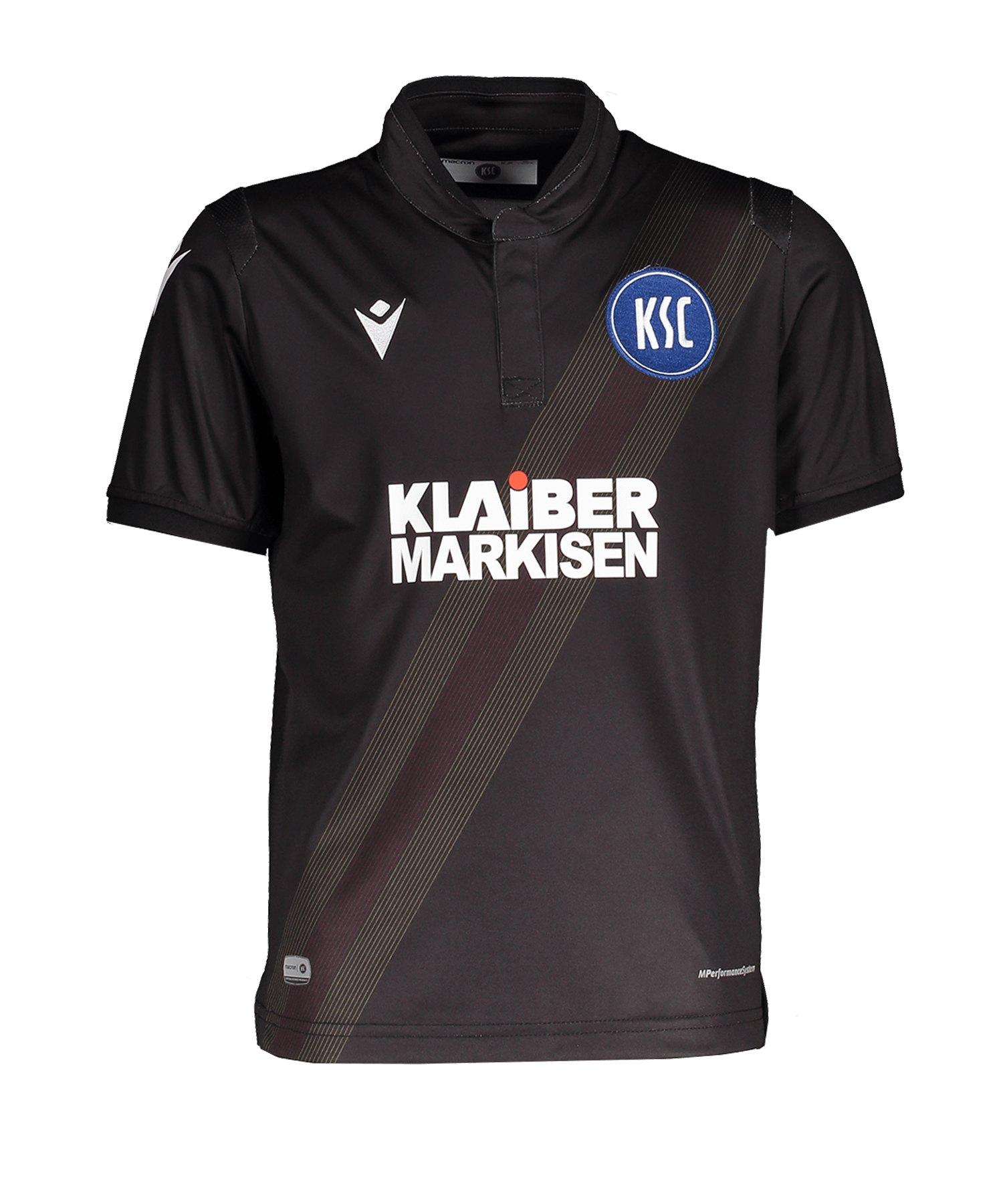 Macron Karlsruher SC Auth Trikot 3rd 19/20 Kids - schwarz