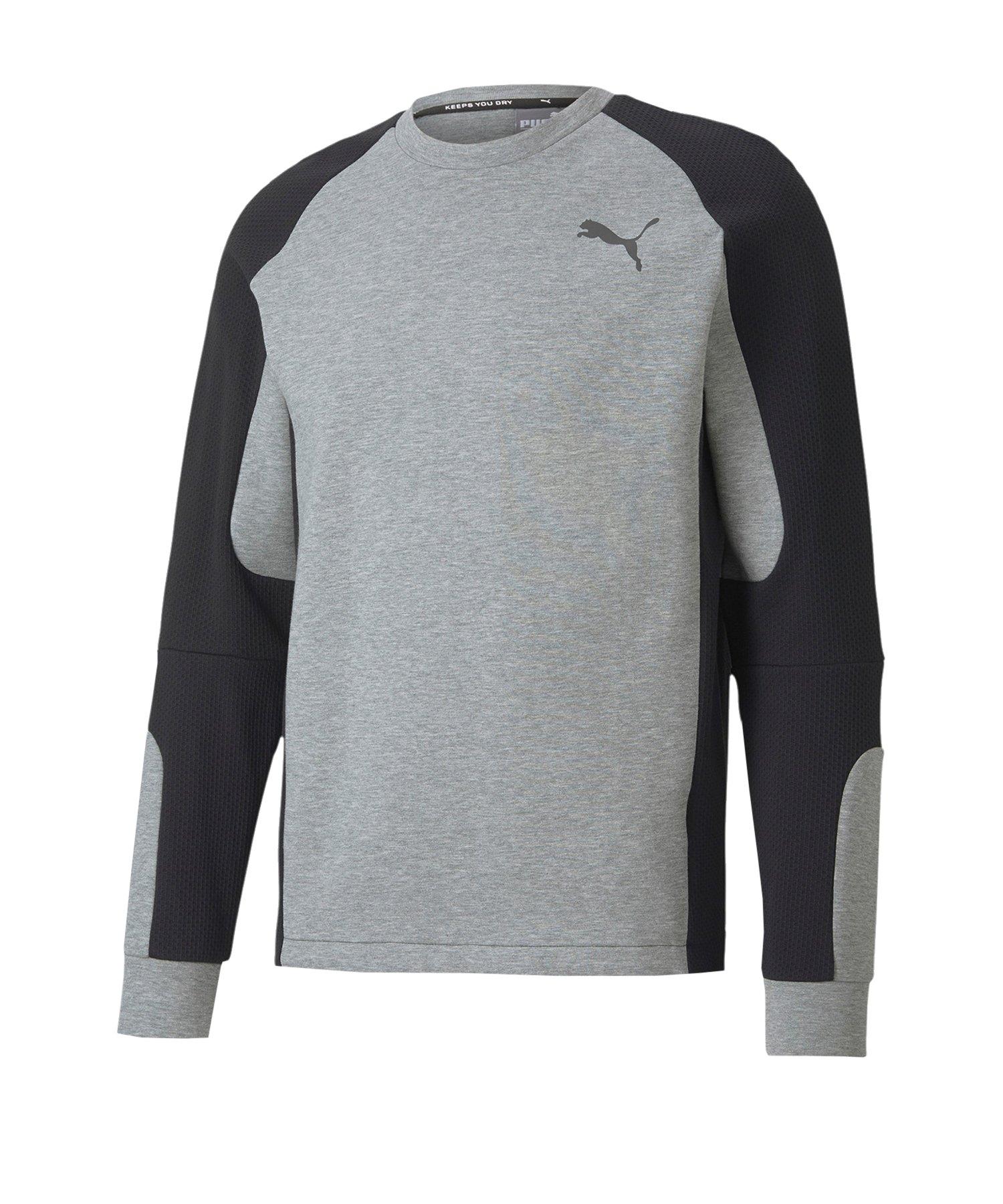 PUMA Evostripe Crew Sweatshirt Grau F03 - grau