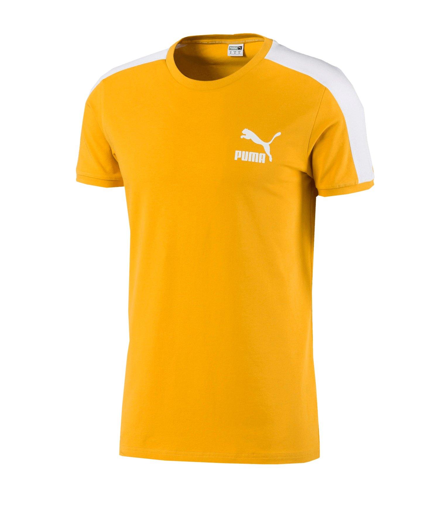 PUMA Iconic T7 Slim Tee T-Shirt F25 - gelb