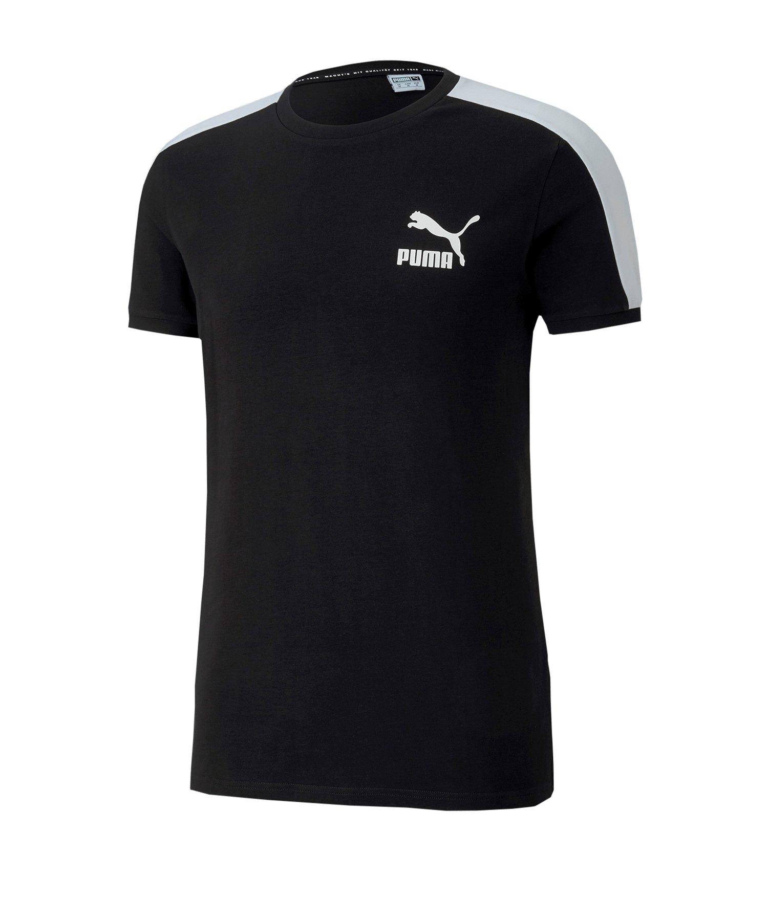 PUMA Iconic T7 Slim Tee T-Shirt Schwarz F01 - schwarz