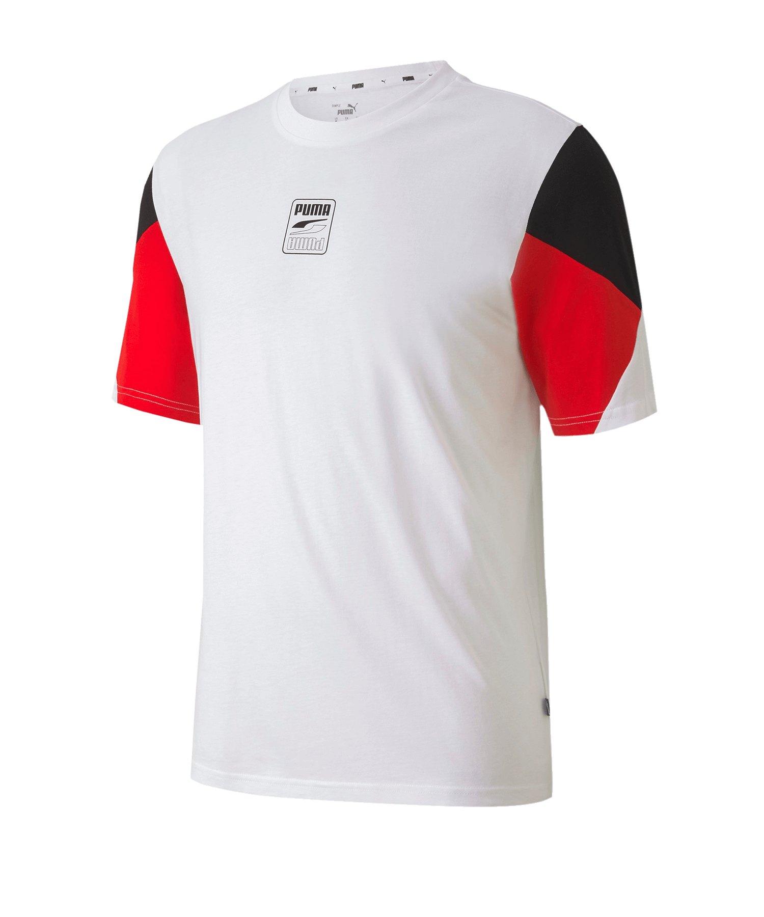 PUMA Rebel Advanced Tee T-Shirt Weiss F02 - weiss