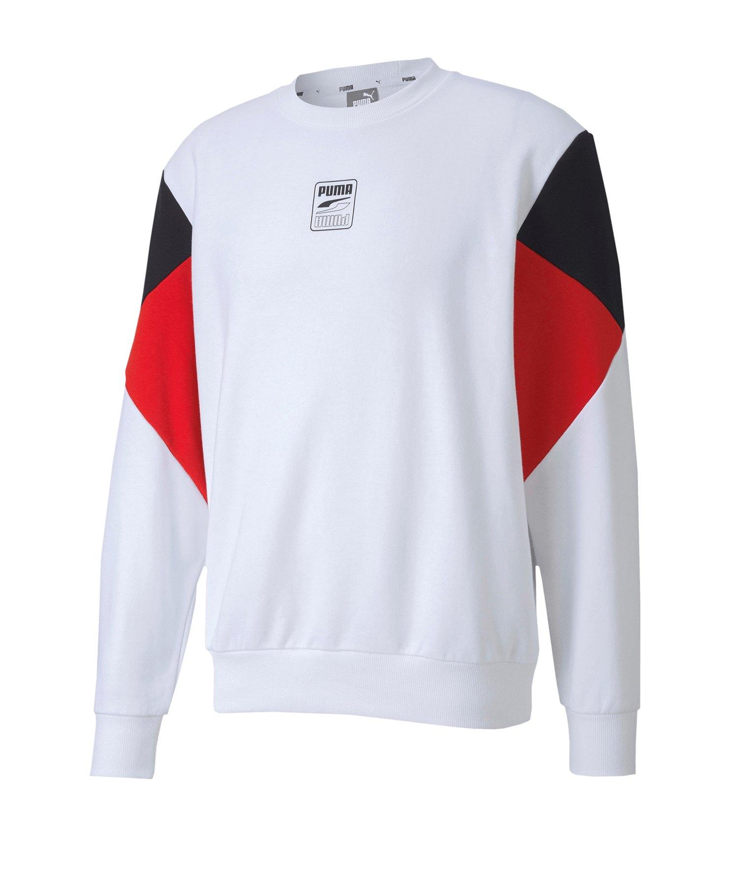 PUMA Rebel Crew Small Logo TR Sweatshirt F02 - weiss