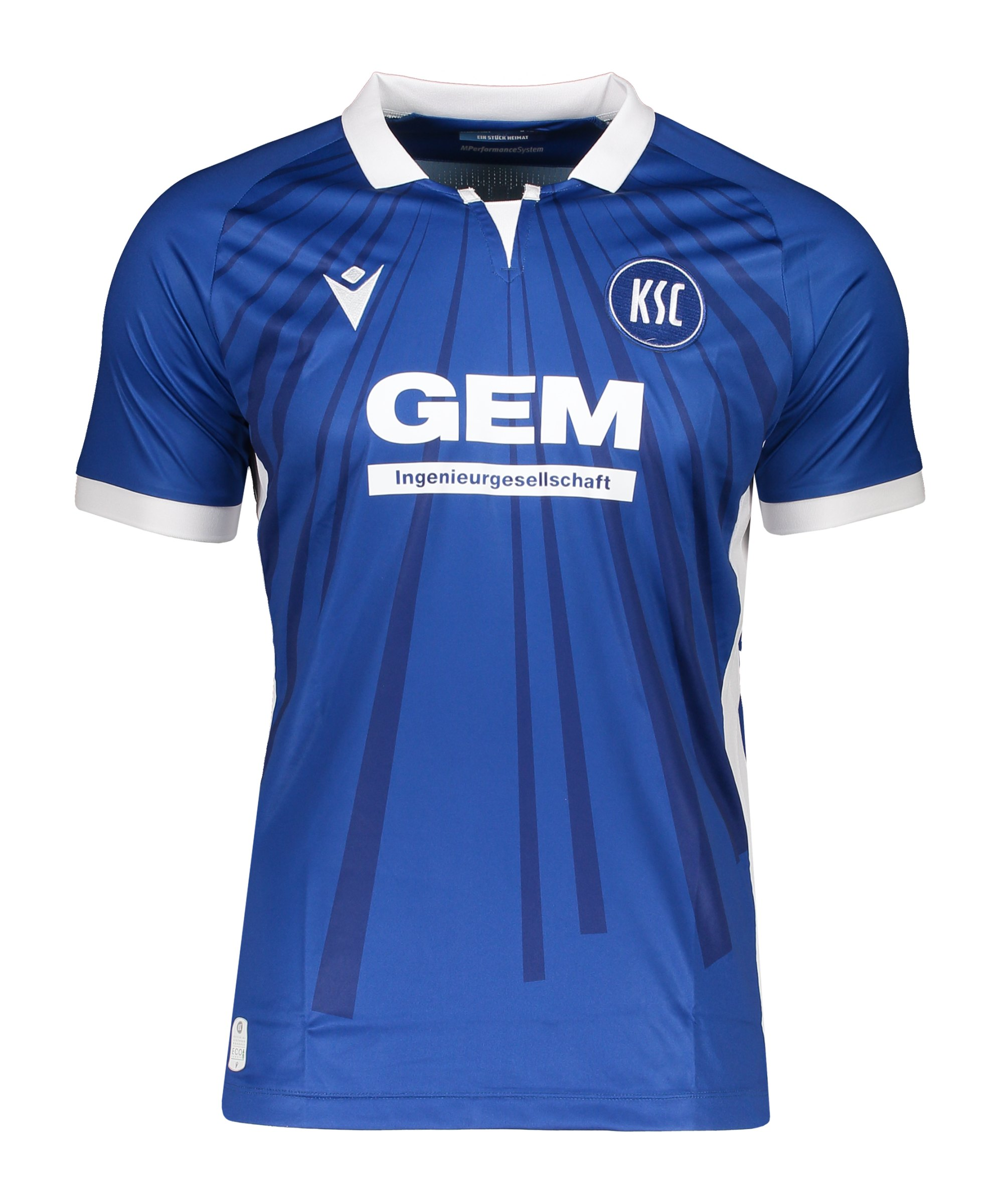 Macron Karlsruher SC Authentic Trikot Home 2021/2022 Kids Blau - blau