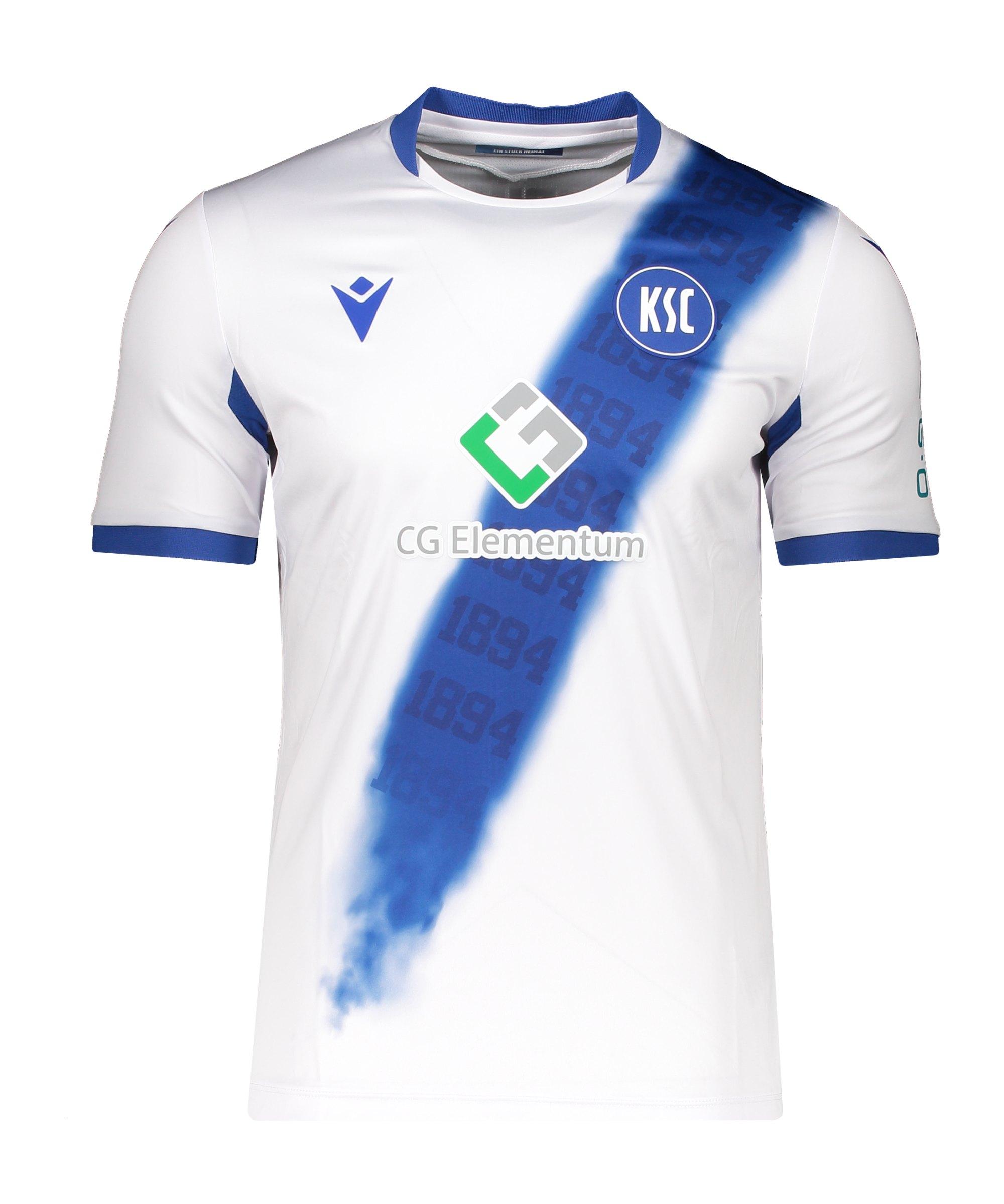 Macron Karlsruher SC Authentic Trikot Away 2021/2022 Weiss - weiss