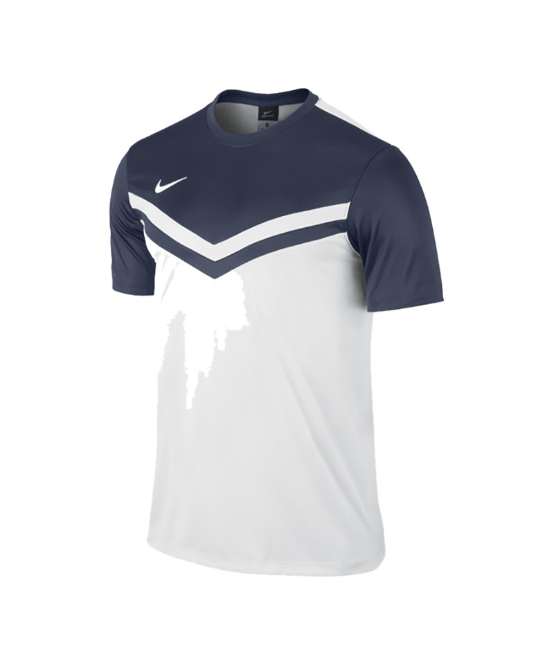 Nike Kurzarm Trikot Victory II F100 Weiss Blau - weiss
