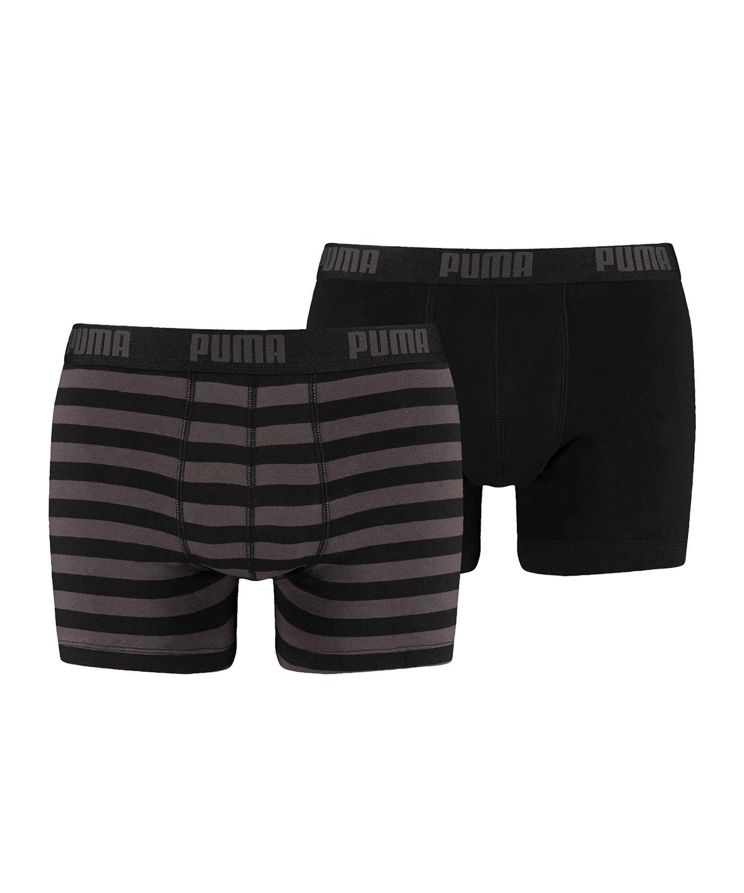 PUMA Stripe Boxer 2er Pack Mens Schwarz F200 - schwarz