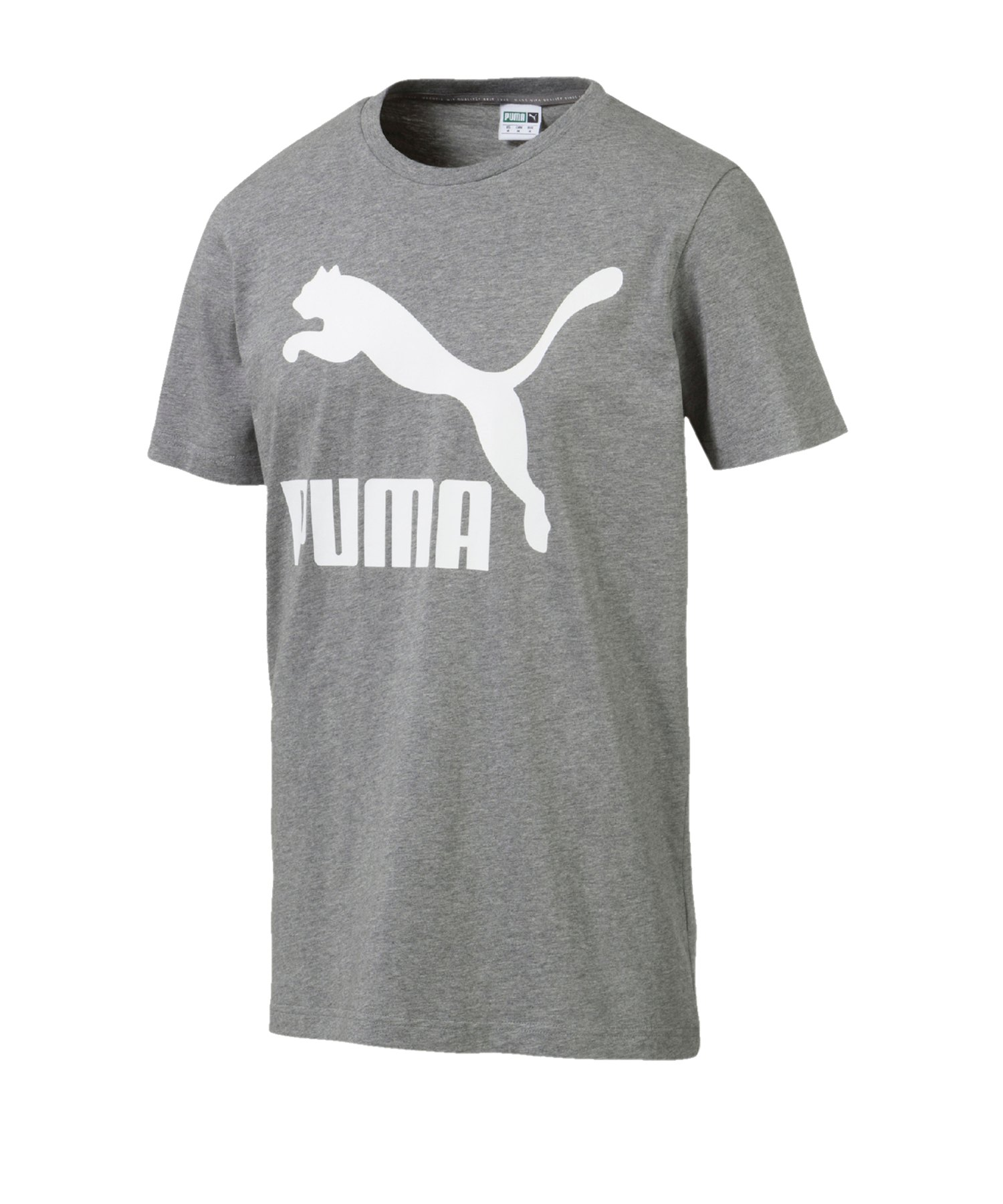 PUMA Classics Logo T-Shirt Grau F03 - Grau