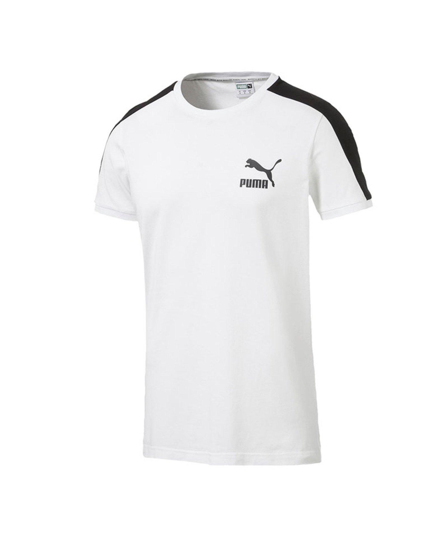 PUMA Iconic T7 T-Shirt Slim Fit Weiss F02 - Weiss