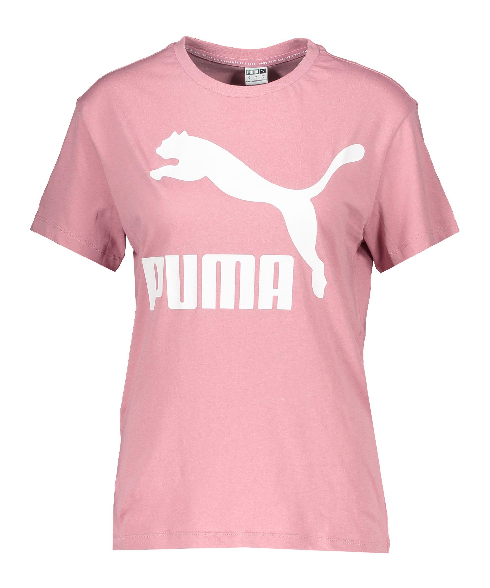 PUMA Classic T-Shirt Damen Rosa F16 - rosa