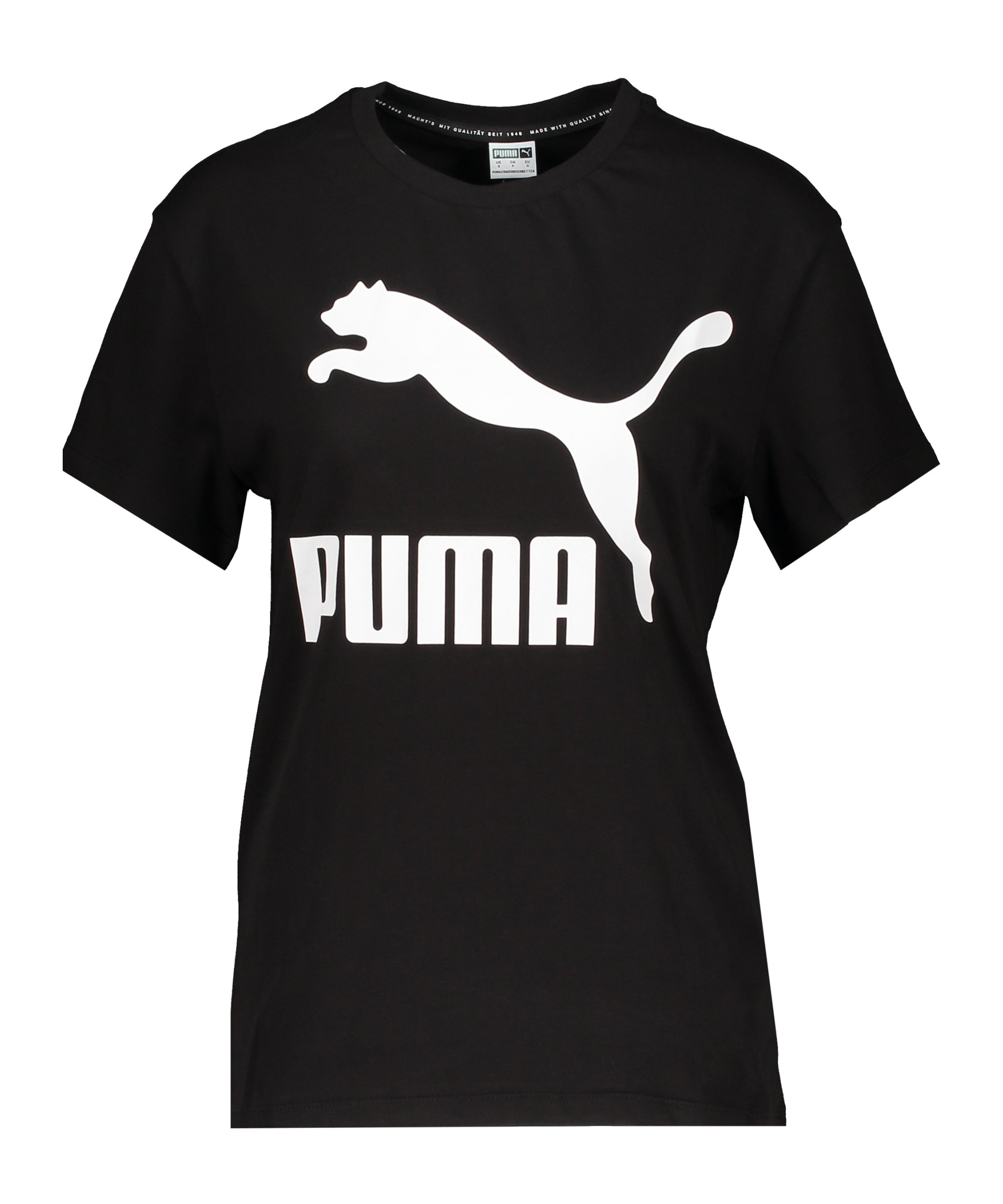 PUMA Classic T-Shirt Damen Schwarz F01 - schwarz