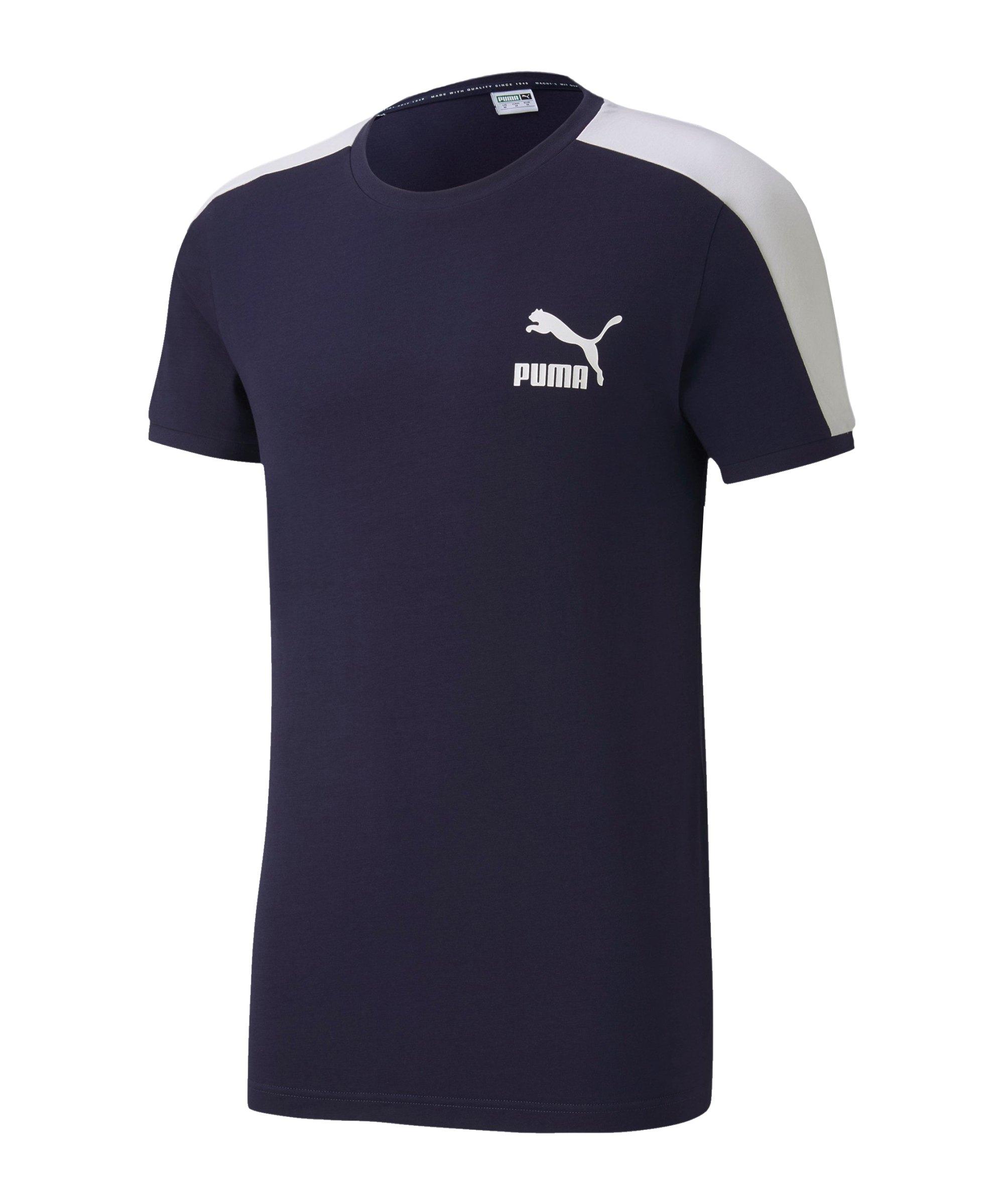 PUMA Iconic T7 Slim Tee T-Shirt Blau F06 - blau