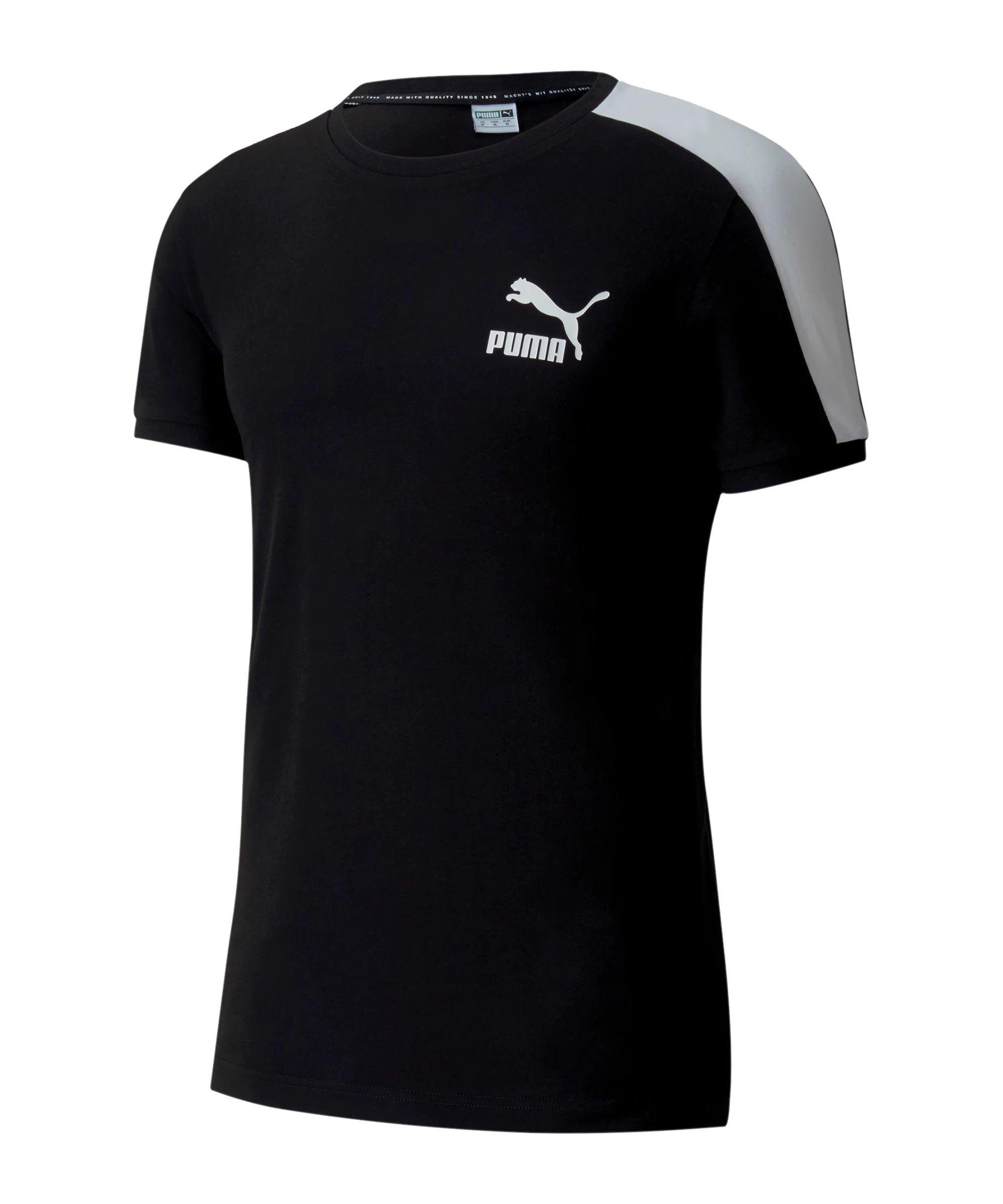 PUMA Iconic T7 Slim Tee T-Shirt Schwarz F51 - schwarz