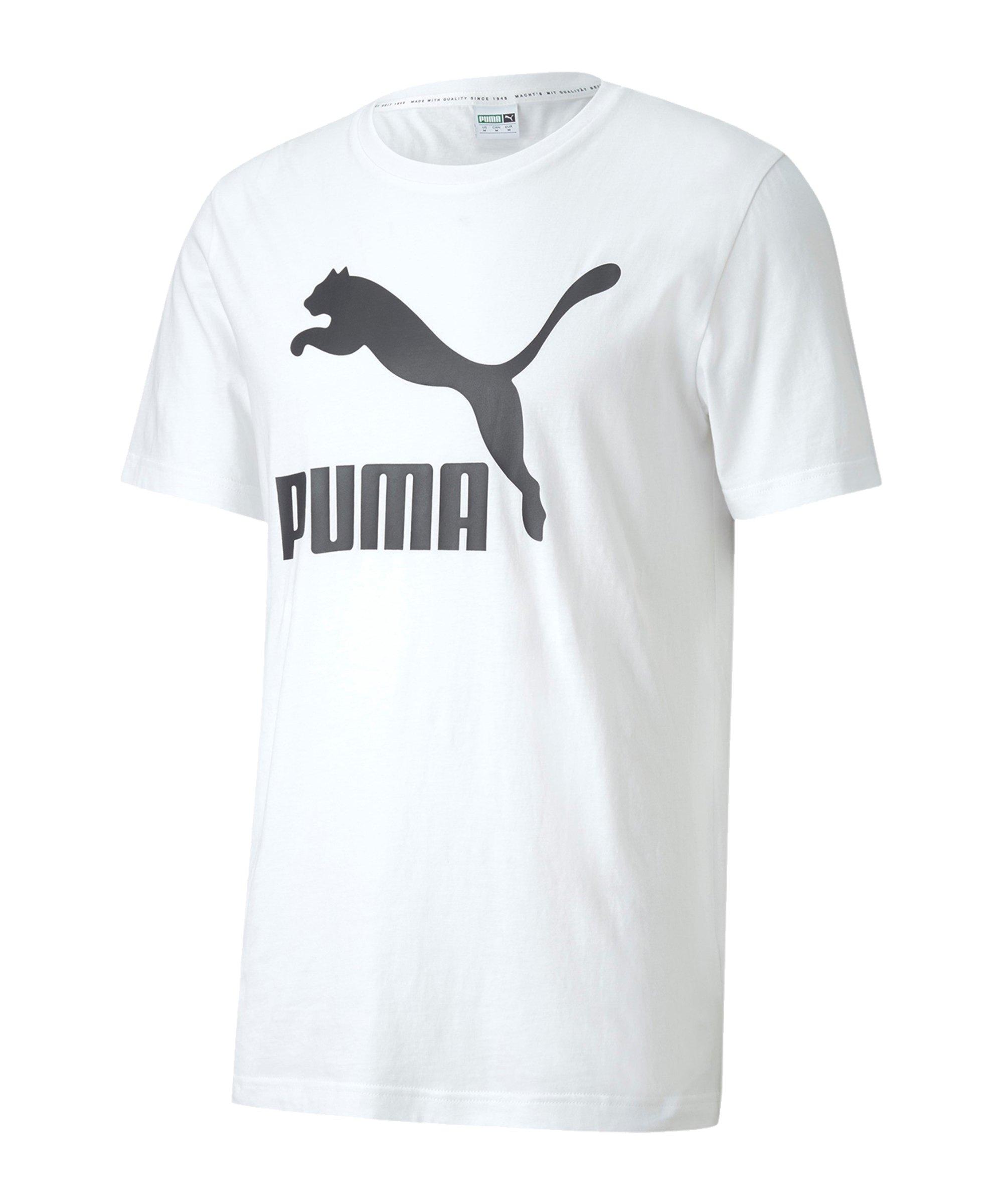 PUMA Classic Logo Tee T-Shirt Weiss F02 - weiss