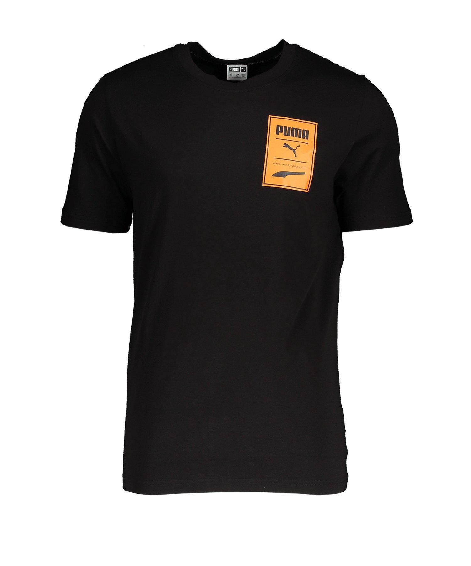 PUMA Recheck Pack Graphic T-Shirt Schwarz F01 - schwarz