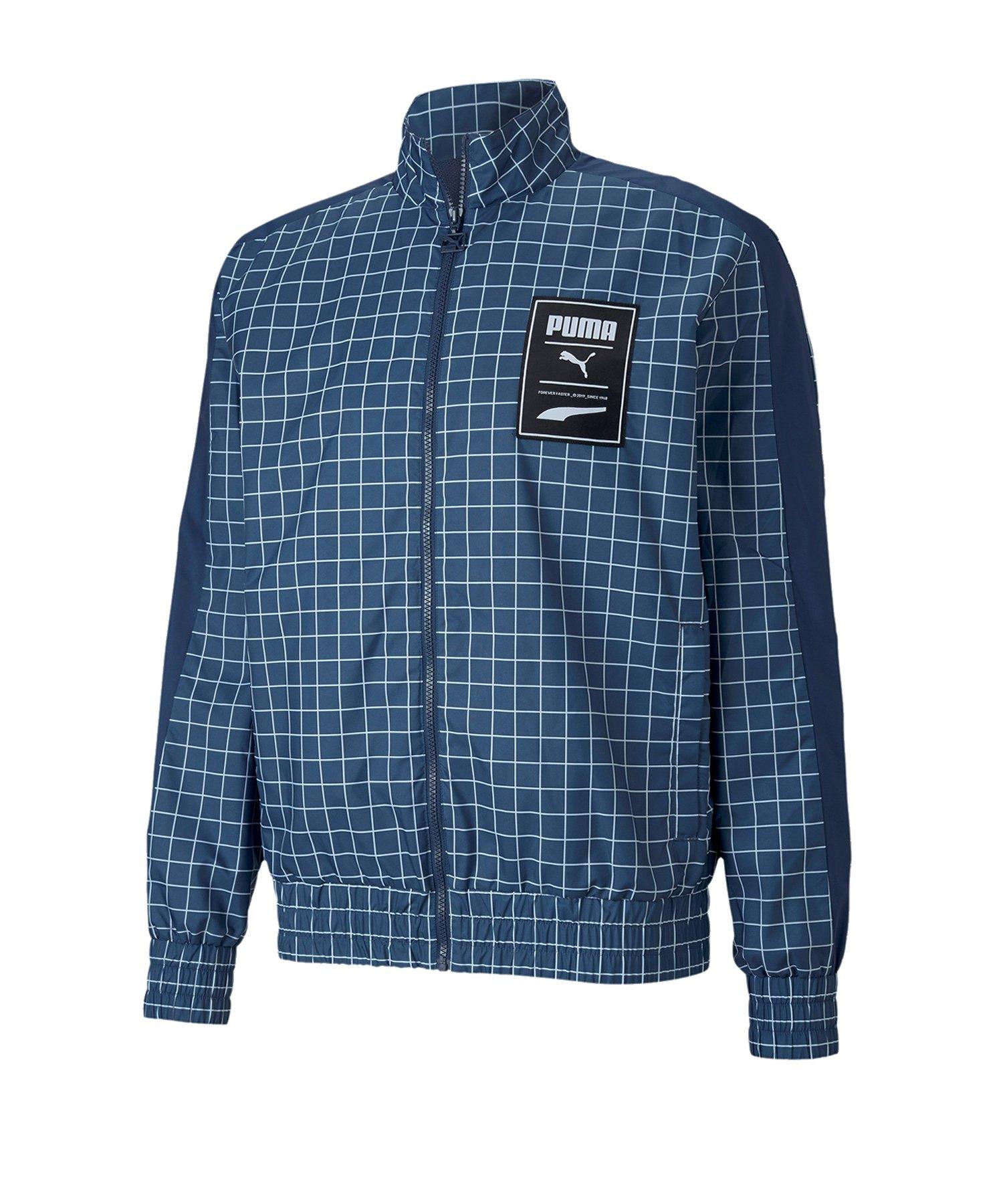 PUMA Recheck Pack Woven Jacke Blau F43 - blau
