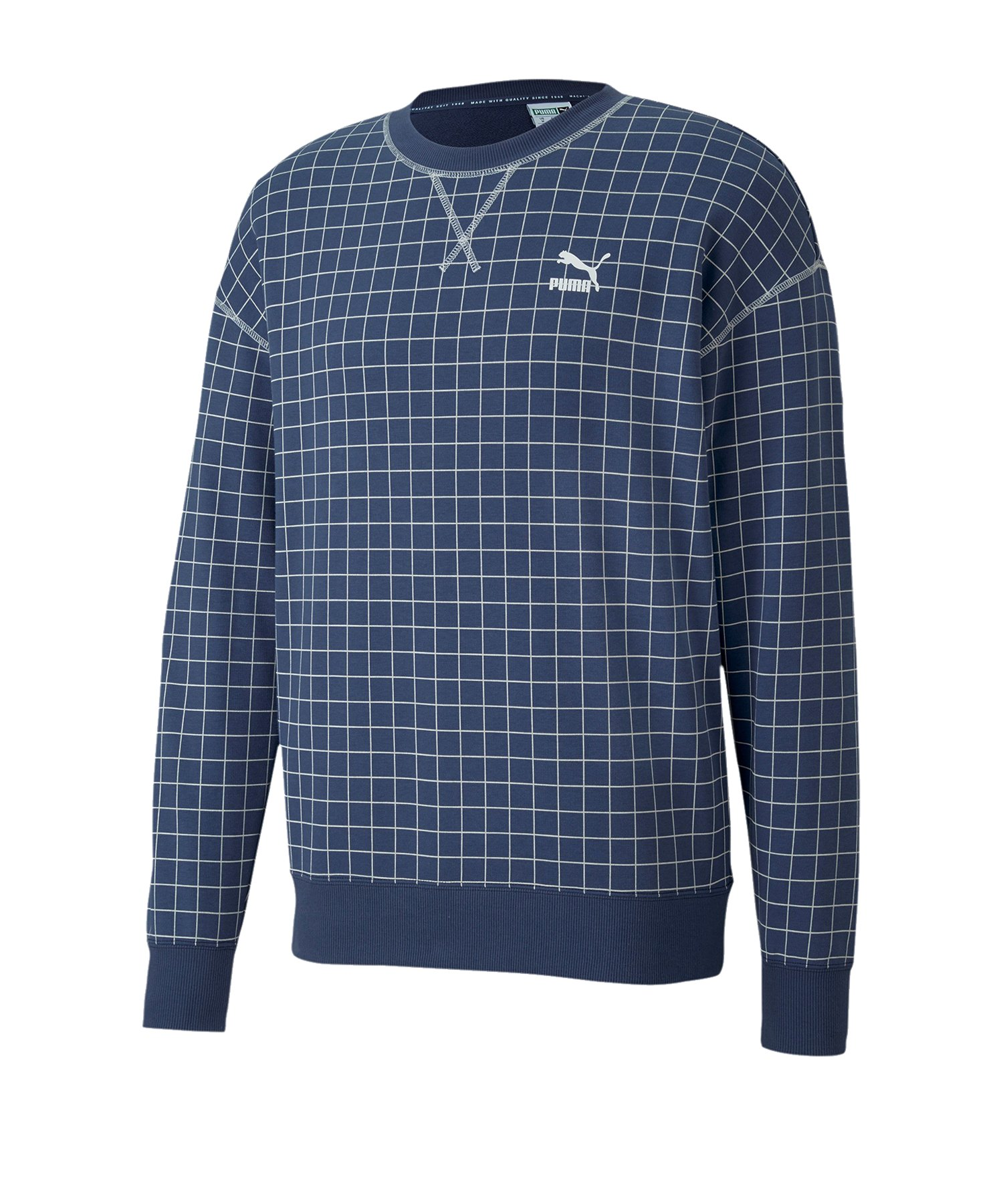 PUMA Recheck Pack Crew Sweatshirt Blau F43 - blau