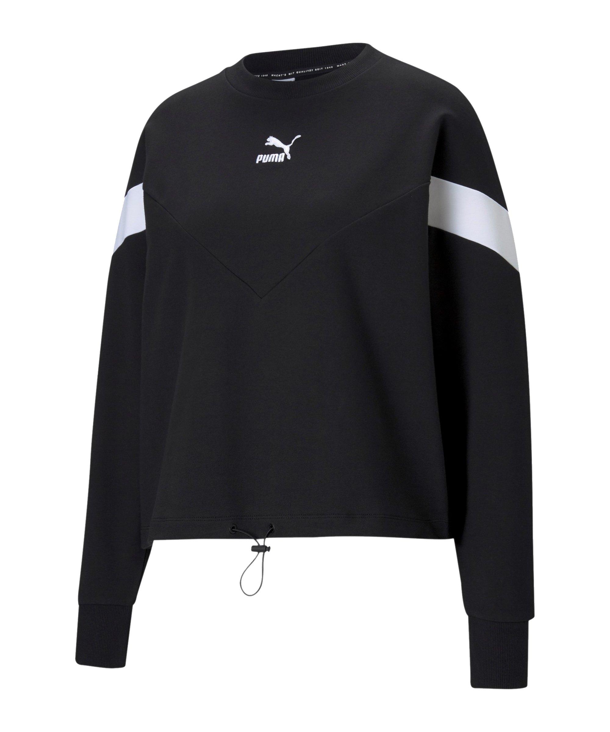 PUMA Iconic MCS Cropped Sweatshirt Damen F01 - schwarz