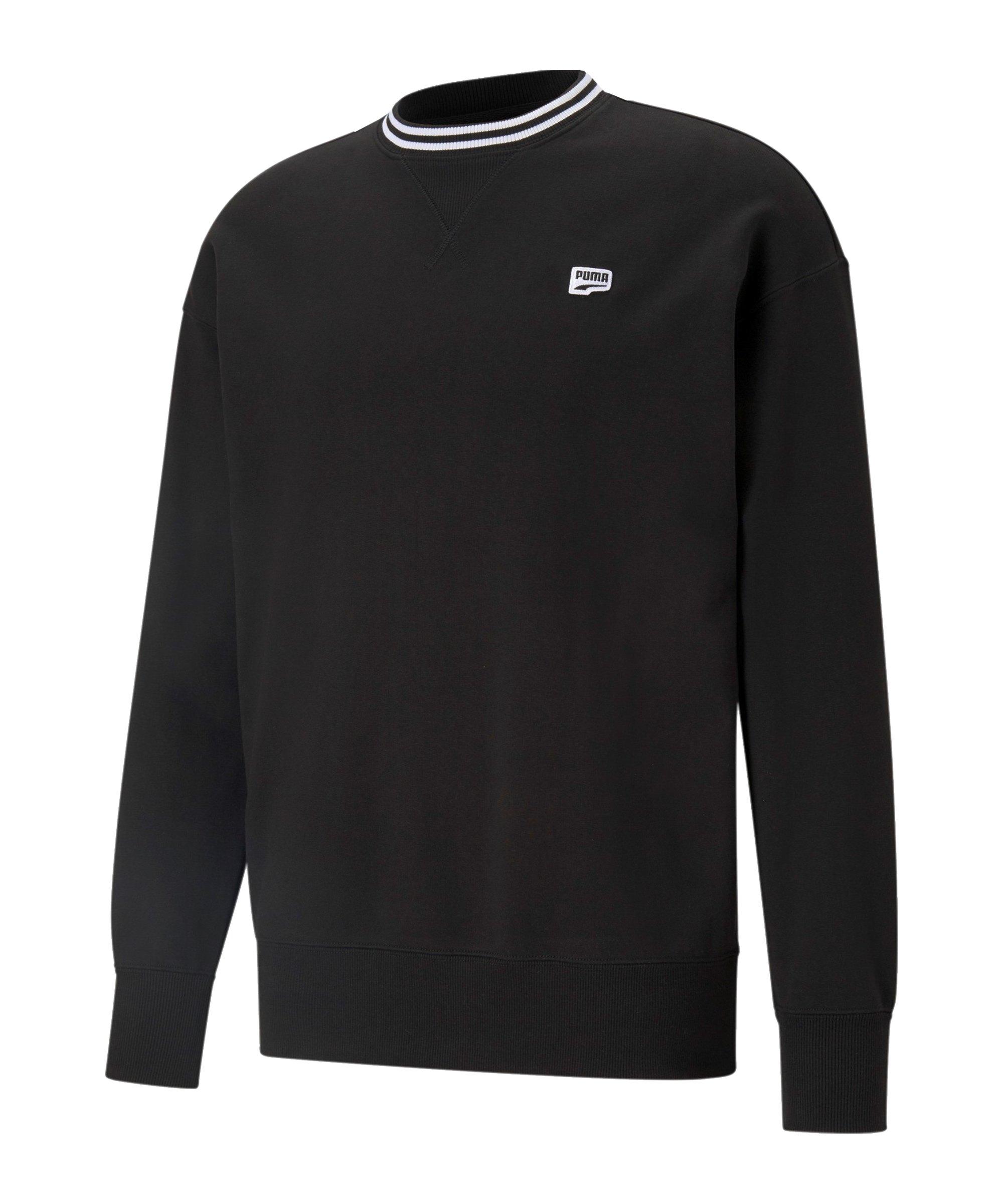 PUMA Downtown Crew Sweatshirt Schwarz F01 - schwarz