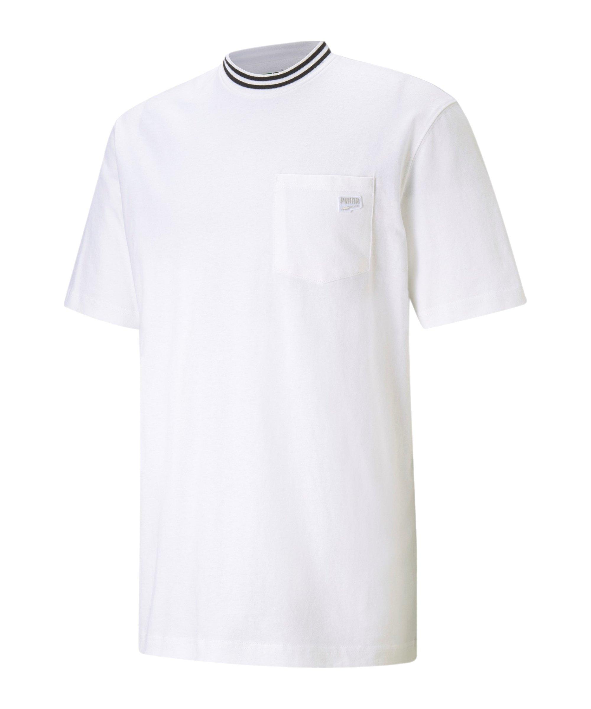 PUMA Downtown Pocket T-Shirt Weiss F02 - weiss