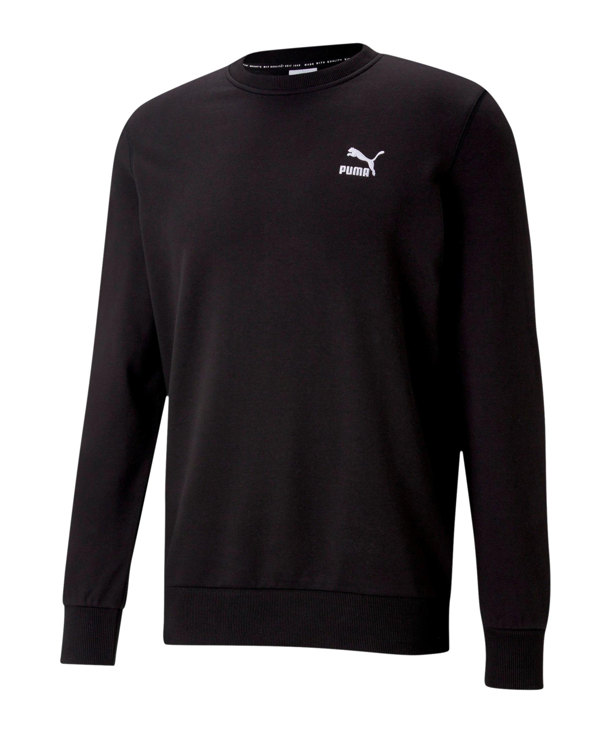 PUMA Classics Embro Crew Sweatshirt Schwarz F01 - schwarz