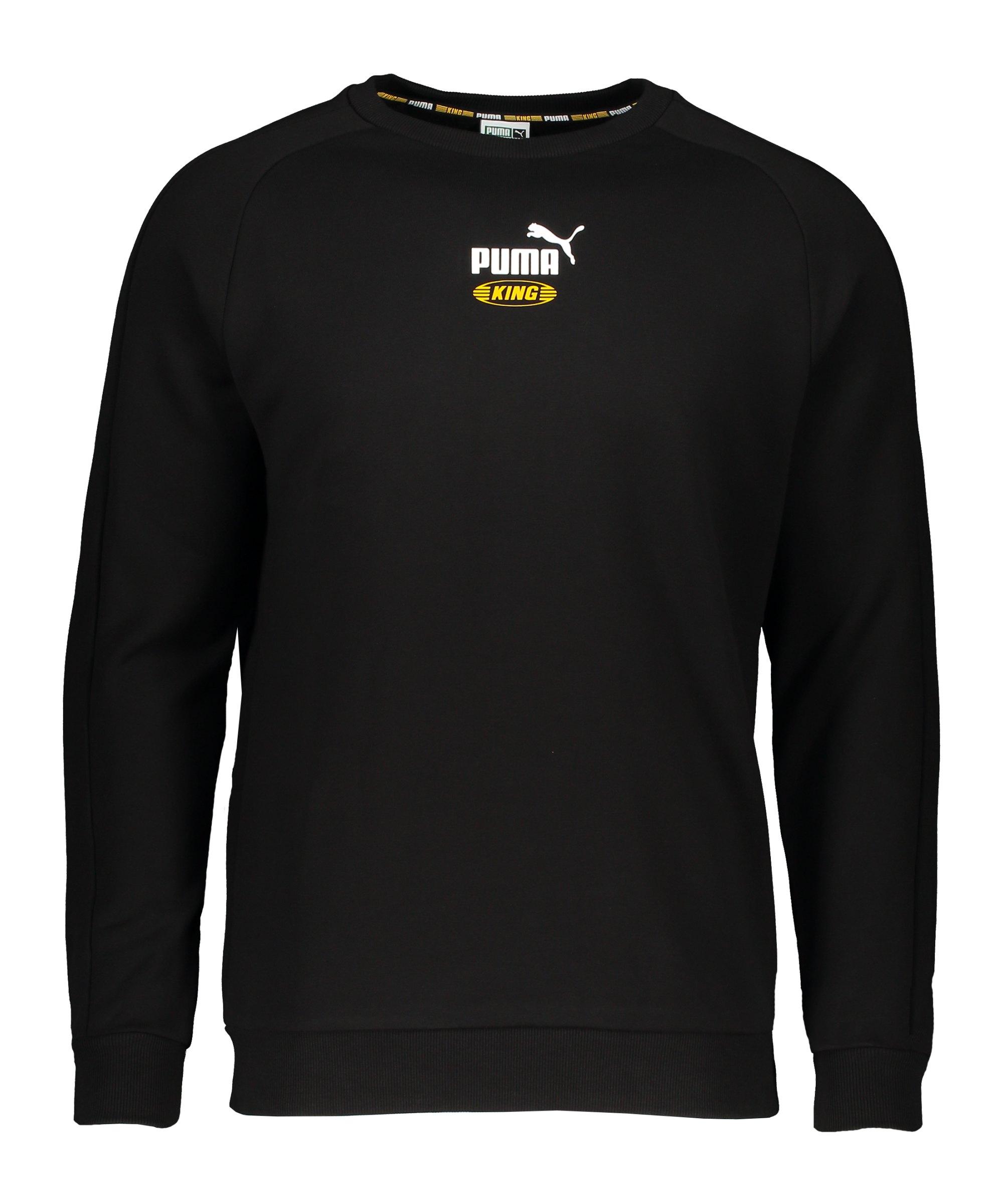 PUMA Iconic KING Crew Sweatshirt Schwarz F01 - schwarz