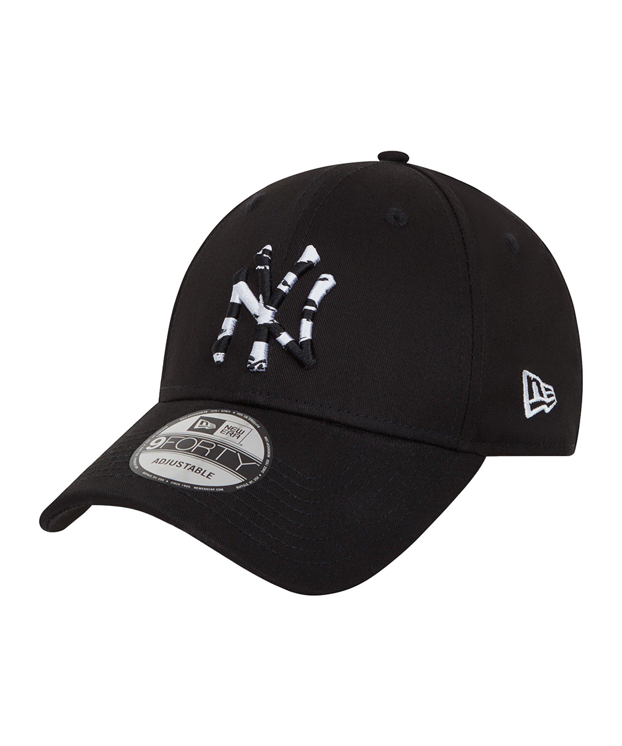 New Era NY Yankees Infill 9Forty Cap Schwarz FBLK - schwarz