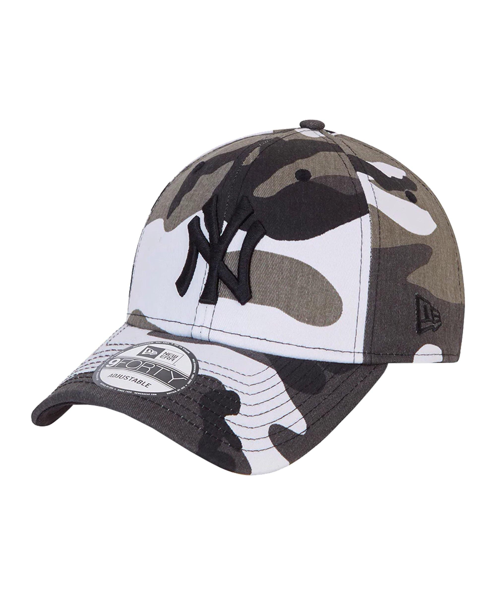 New Era NY Yankees Camo 9Forty Cap Grün FURC - grau