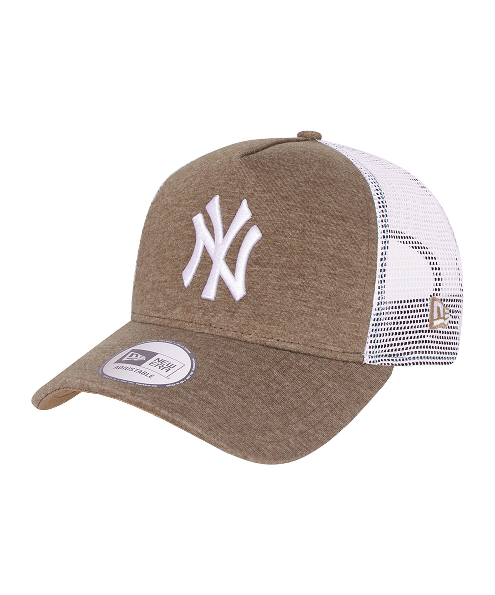 New Era NY Yankees Jersey Trucker Cap Braun FWHT - braun