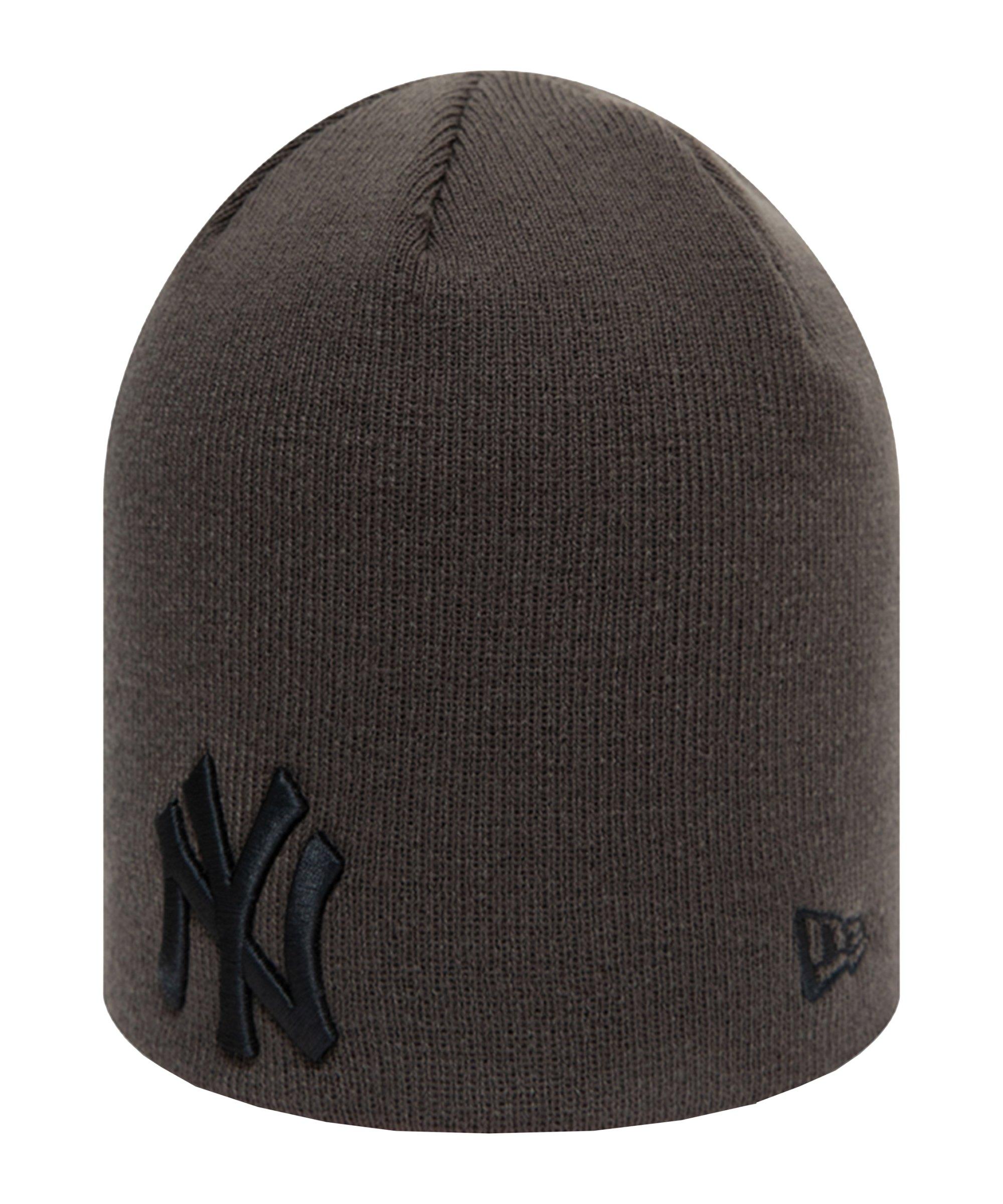 New Era NY Yankees Essential Skull Knit Mütze FGRH - grau