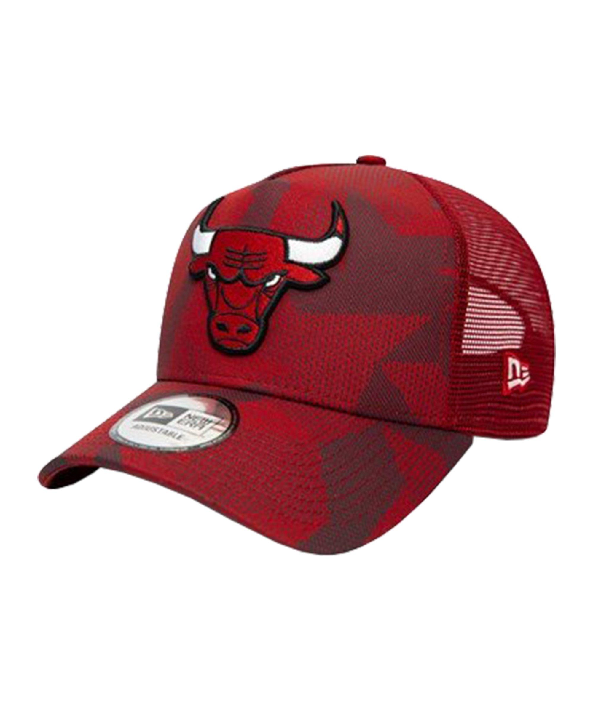 New Era Chicago Bulls Camo Trucker Cap FHRD - rot