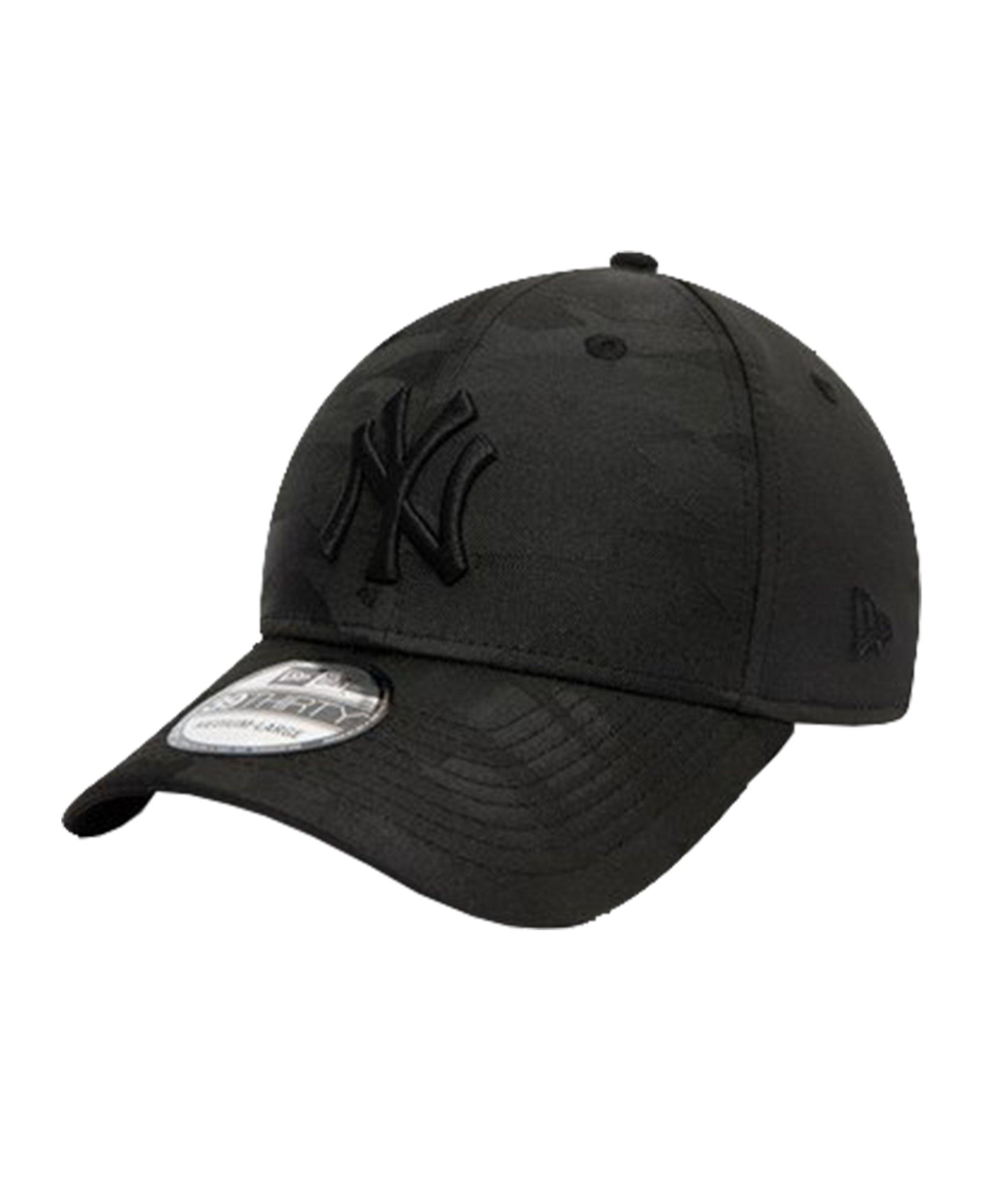 New Era NY Yankees Camo 39Thirty Cap Schwarz FBLK - schwarz