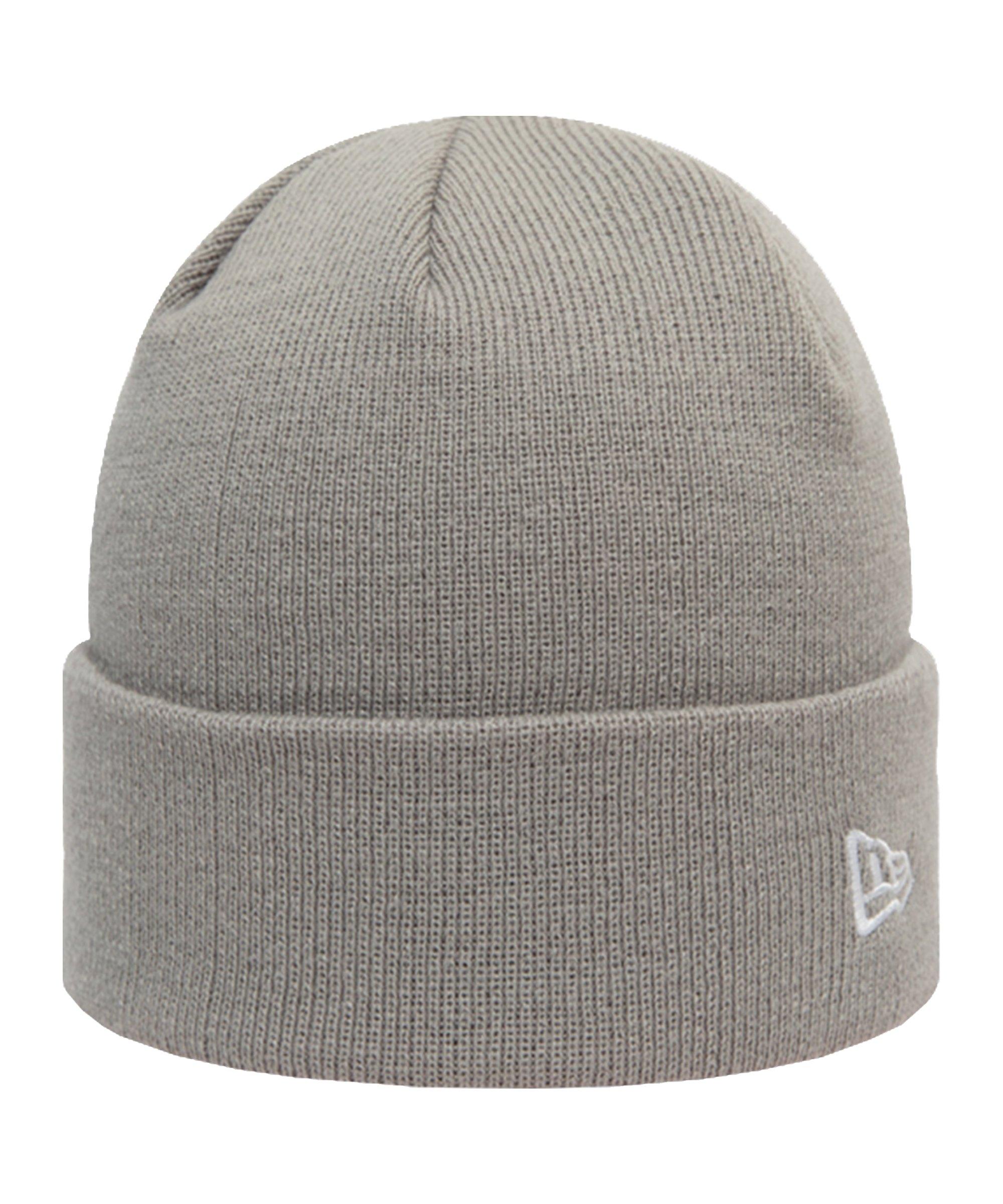 New Era Pop Cuff Knit Short Mütze Grau FGRA - grau
