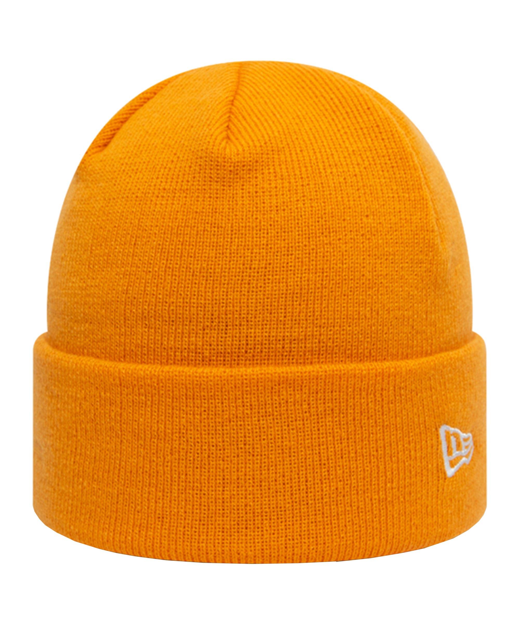 New Era Pop Cuff Knit Short Mütze Orange FTGO - orange