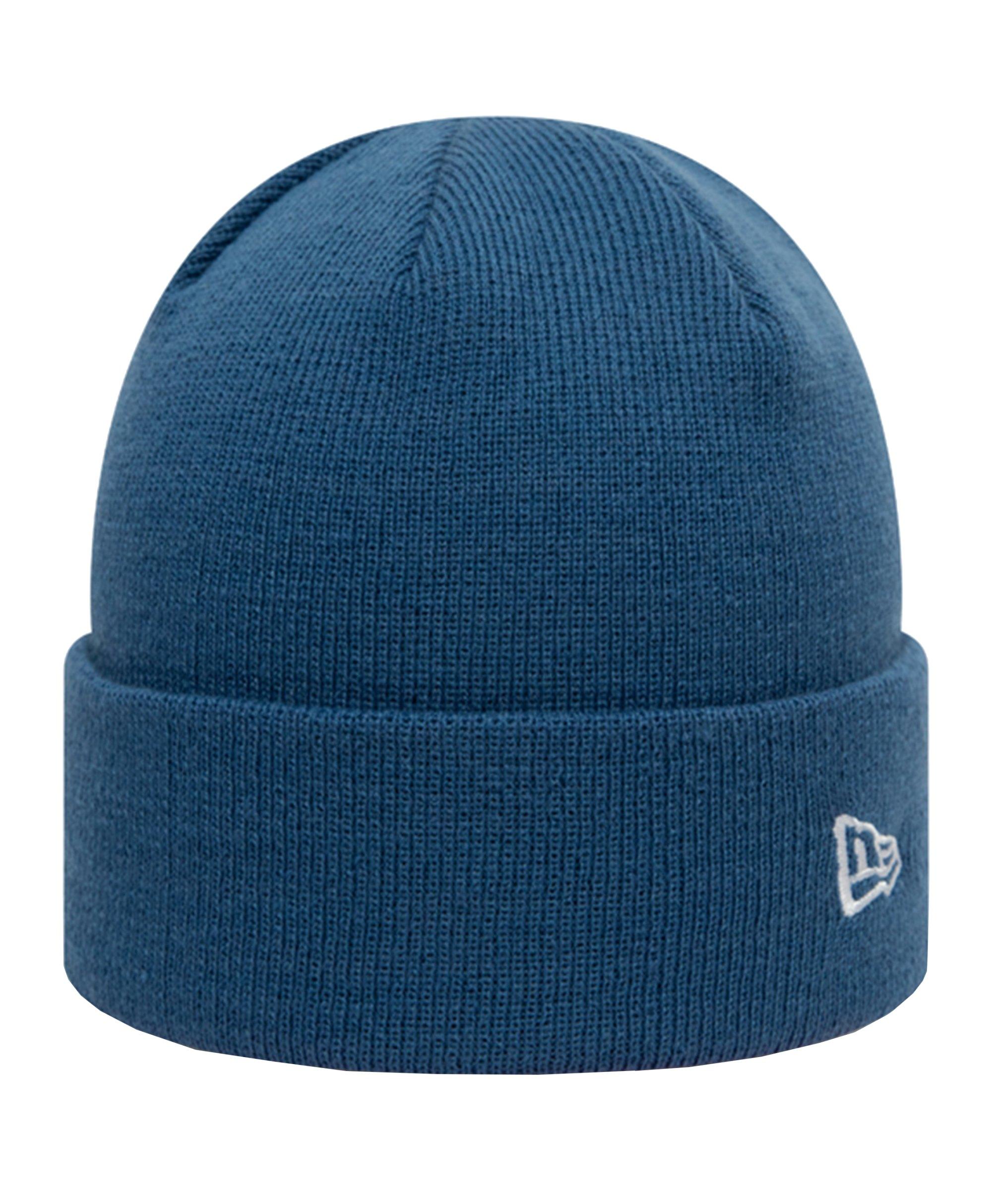 New Era Pop Cuff Knit Short Beanie Blau FIND - blau