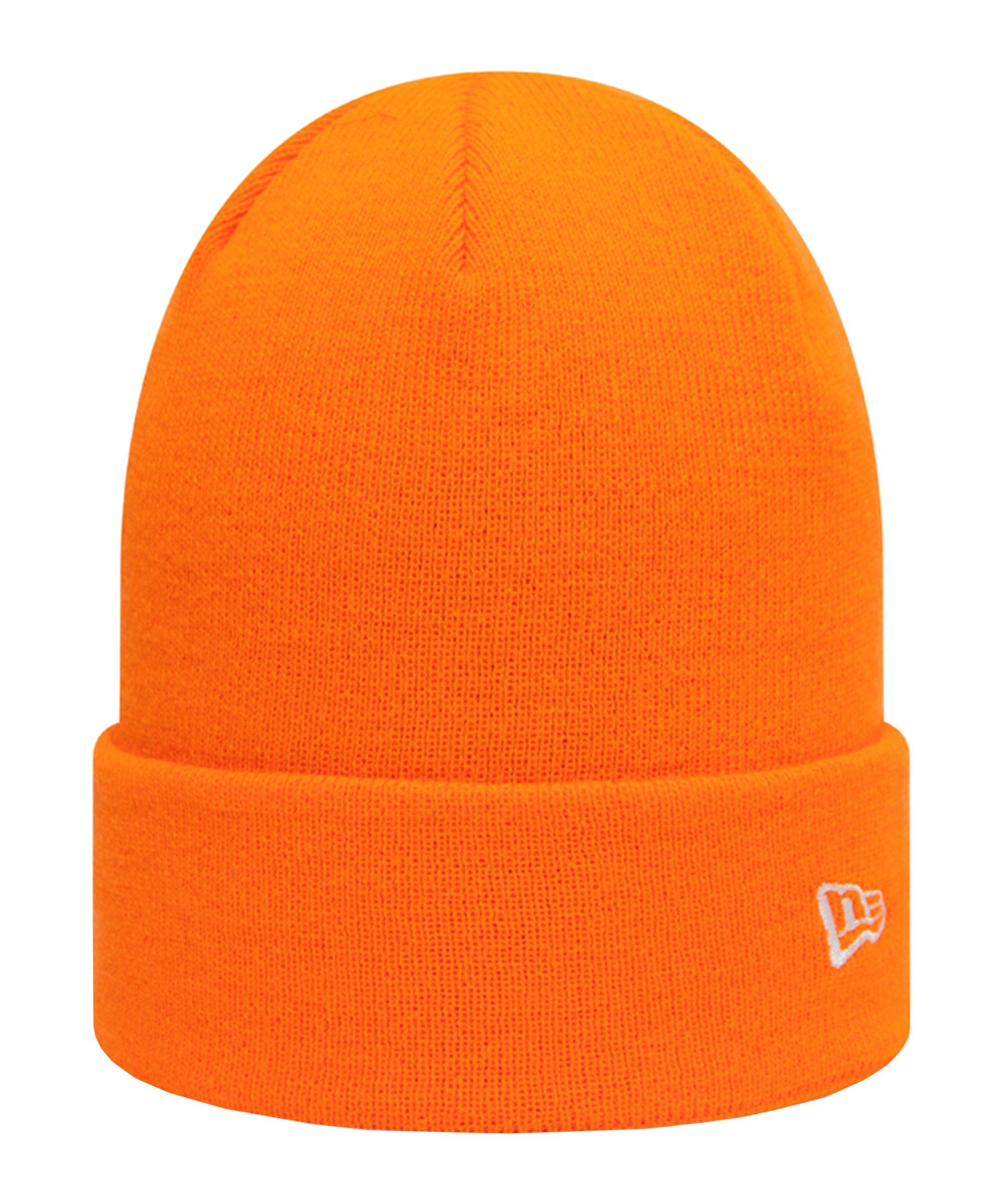 New Era Pop Cuff Knit Short Mütze FHFO - orange