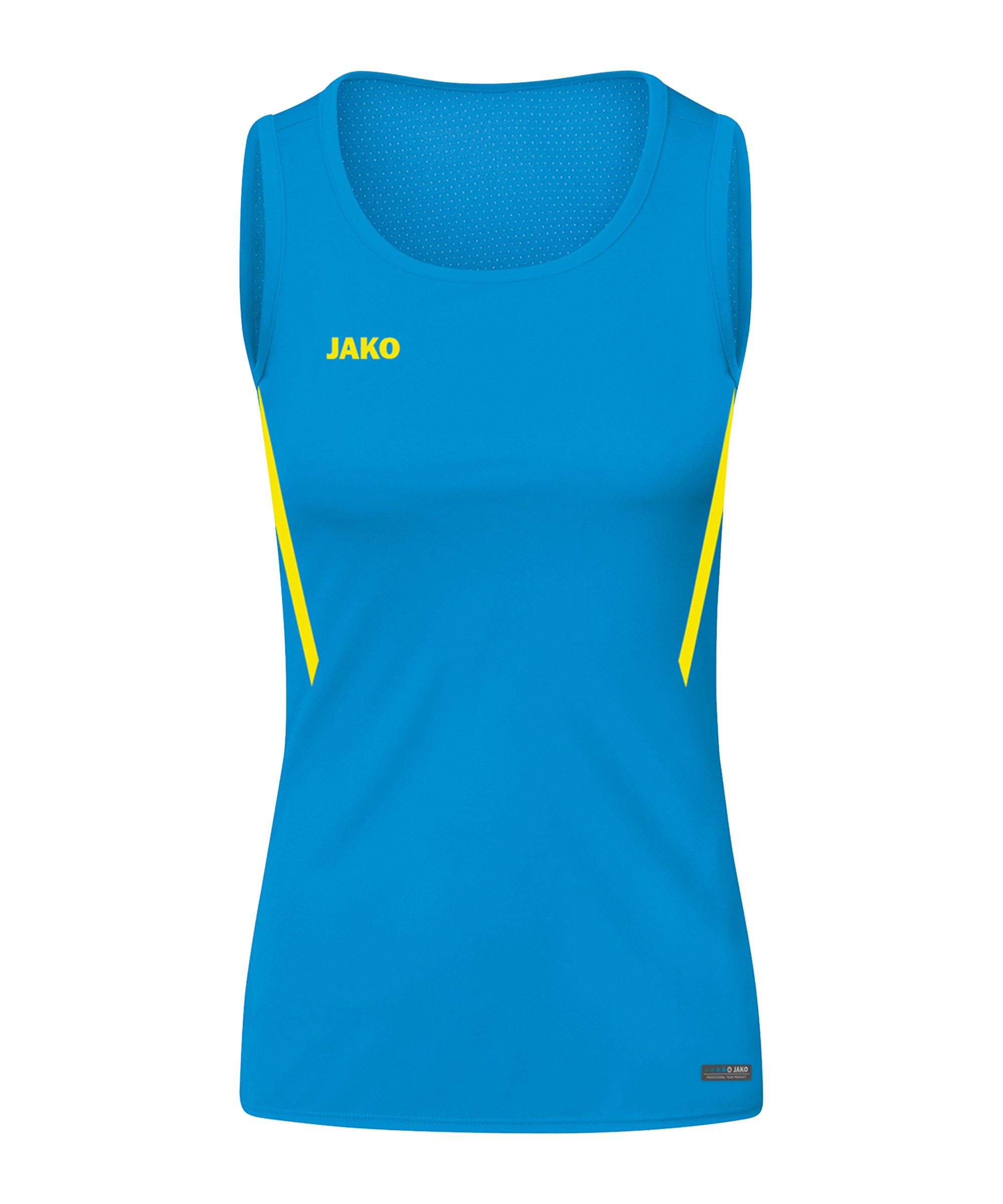 JAKO Challenge Tanktop Damen Blau Gelb F443 - blau