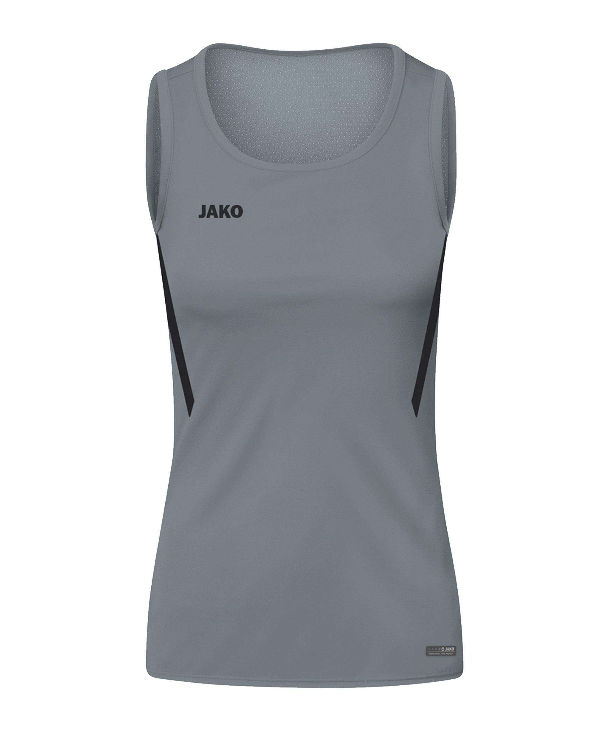 JAKO Challenge Tanktop Damen Grau Schwarz F841 - grau