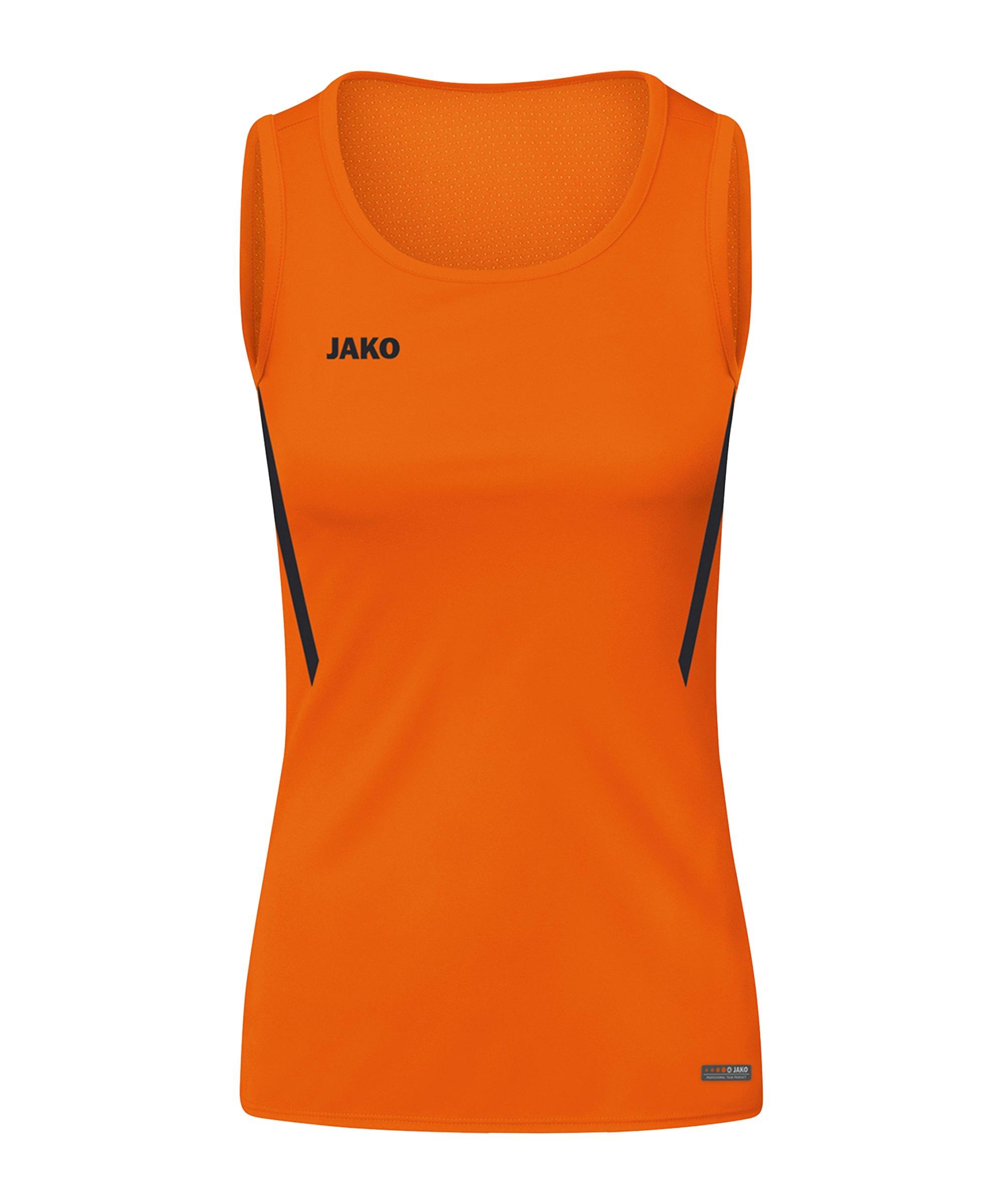 JAKO Challenge Tanktop Damen Orange Schwarz F351 - orange