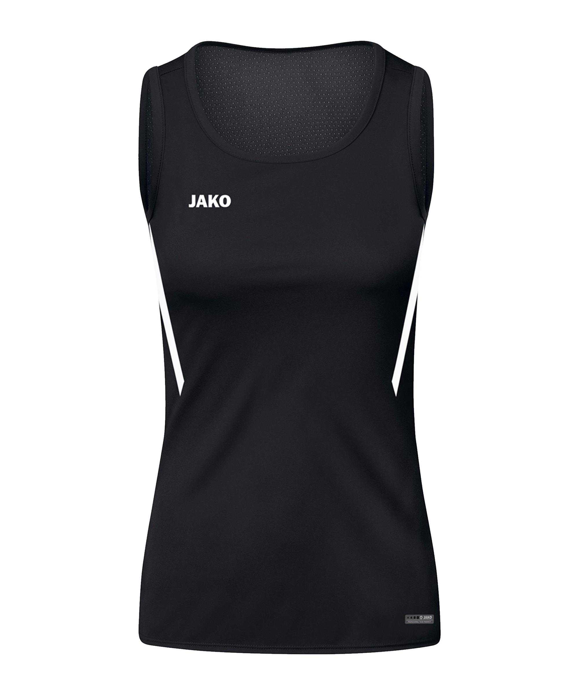 JAKO Challenge Tanktop Damen Schwarz Weiss F802 - schwarz