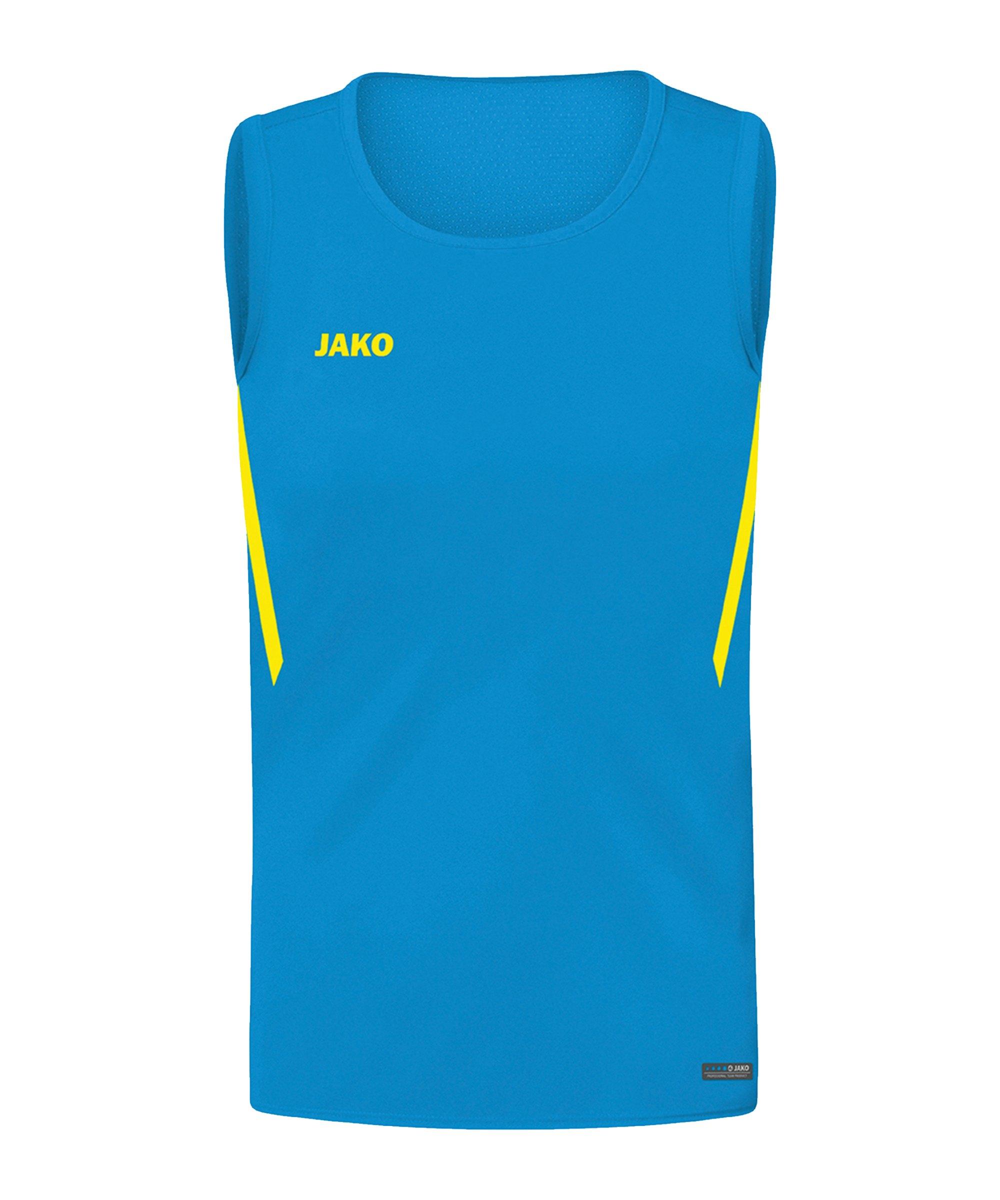 JAKO Challenge Tanktop Kids Blau Gelb F443 - blau