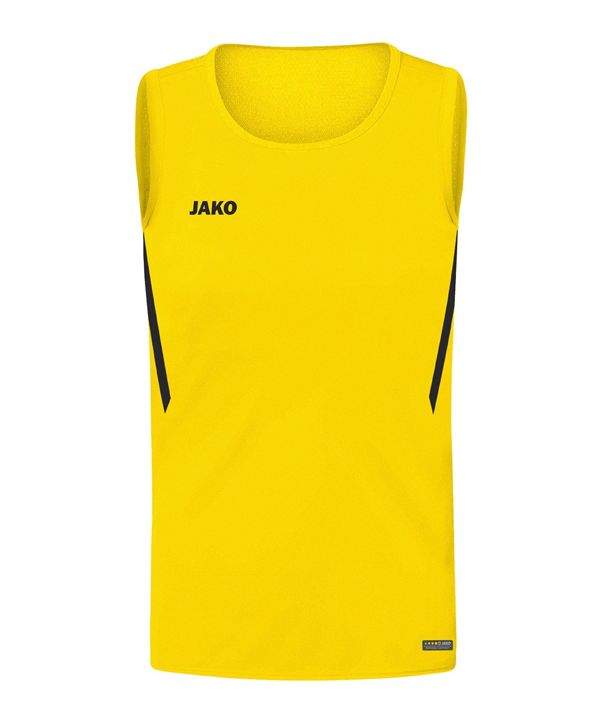 JAKO Challenge Tanktop Kids Gelb Schwarz F301 - gelb