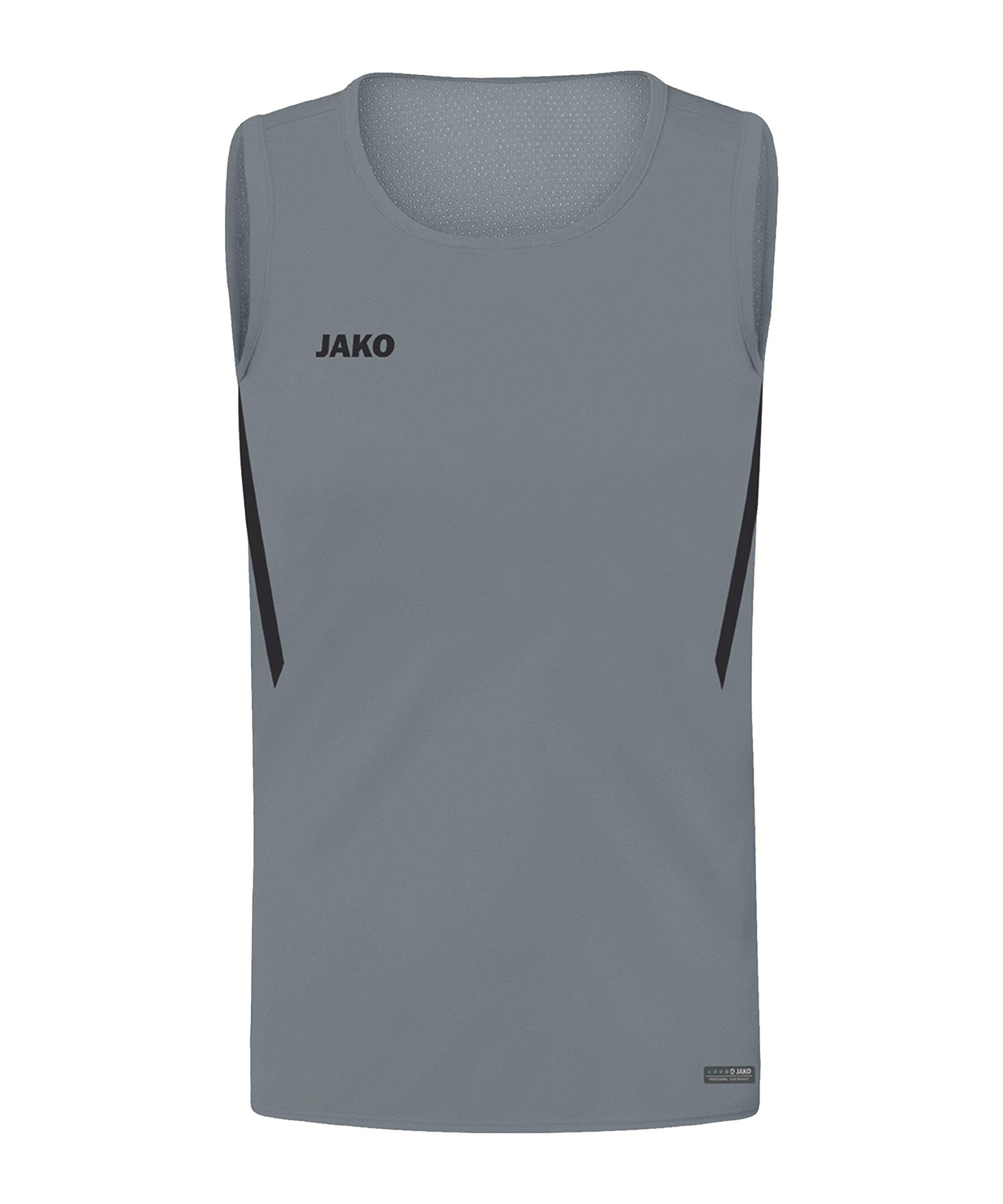 JAKO Challenge Tanktop Kids Grau Schwarz F841 - grau