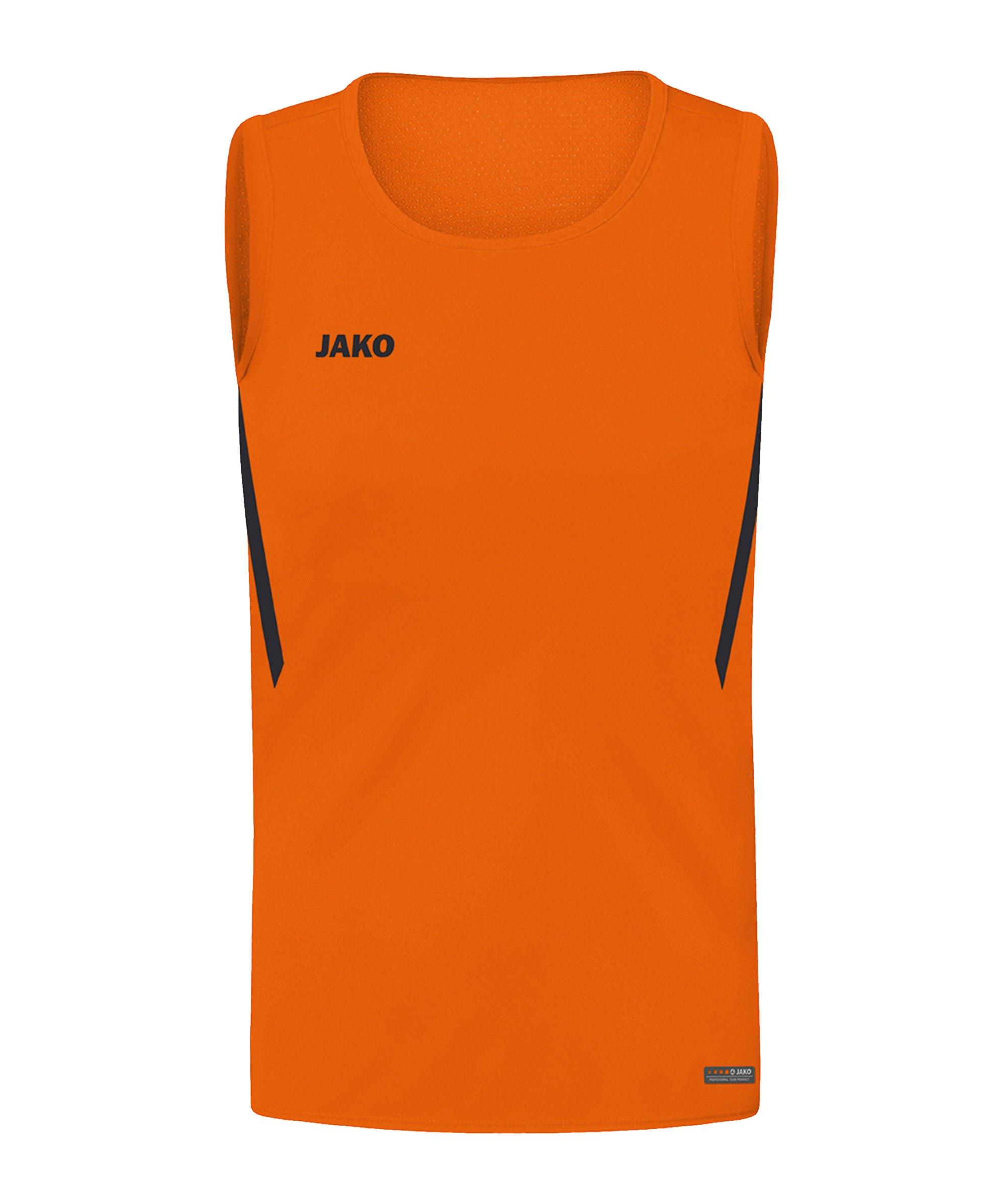 JAKO Challenge Tanktop Kids Orange Schwarz F351 - orange