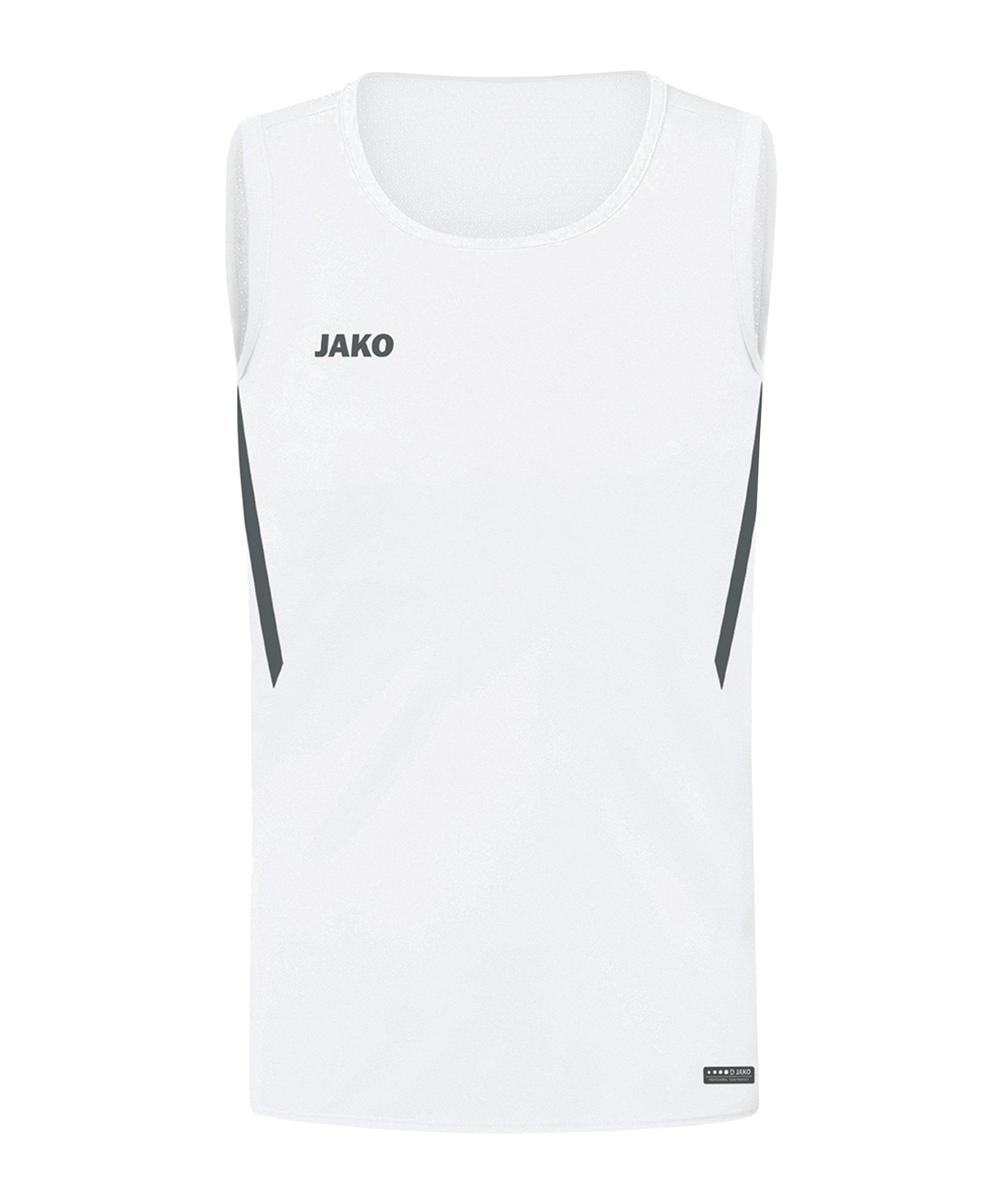 JAKO Challenge Tanktop Kids Weiss F002 - weiss