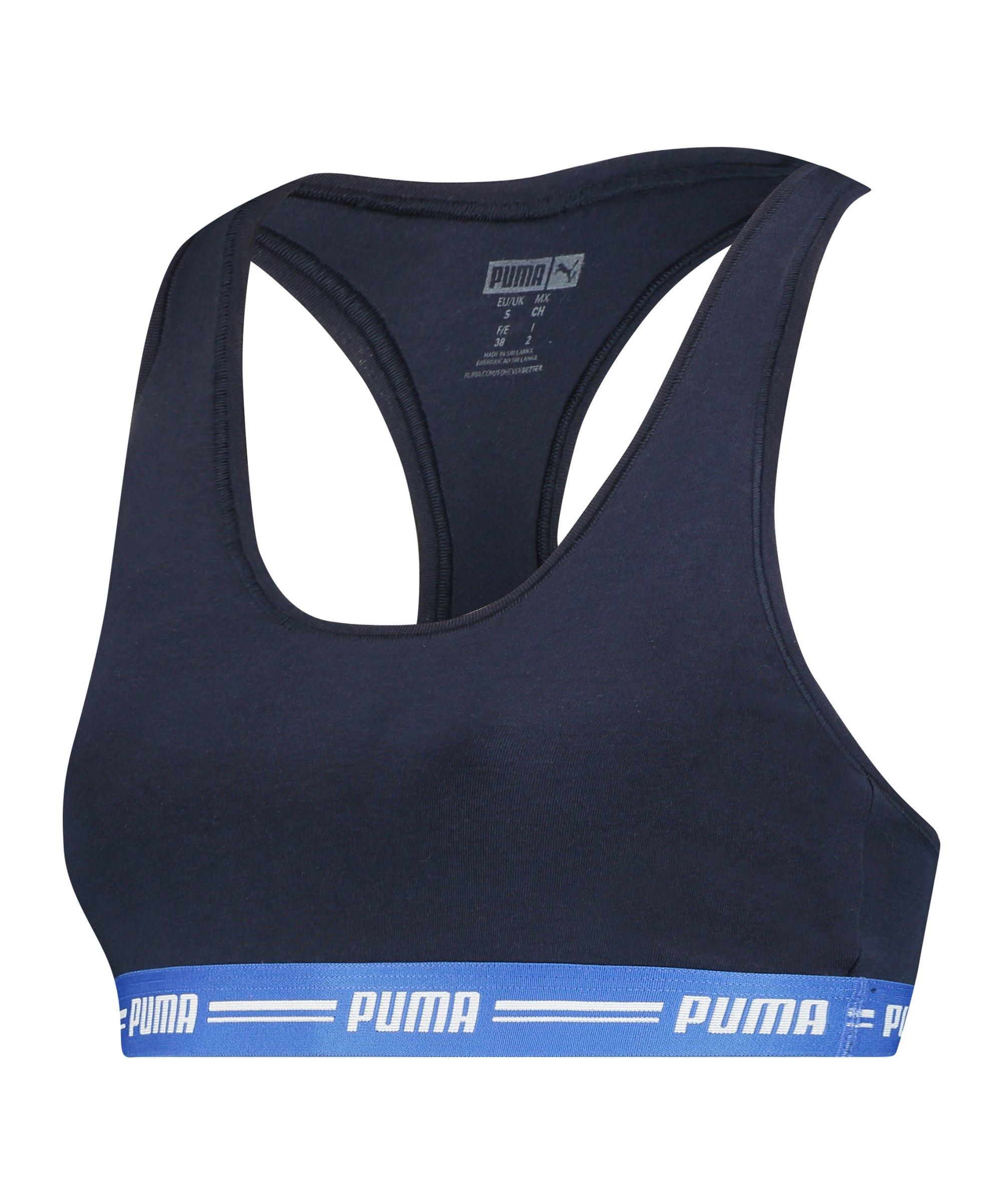 PUMA Racer Back Top Sport-BH Damen Blau F009 - blau