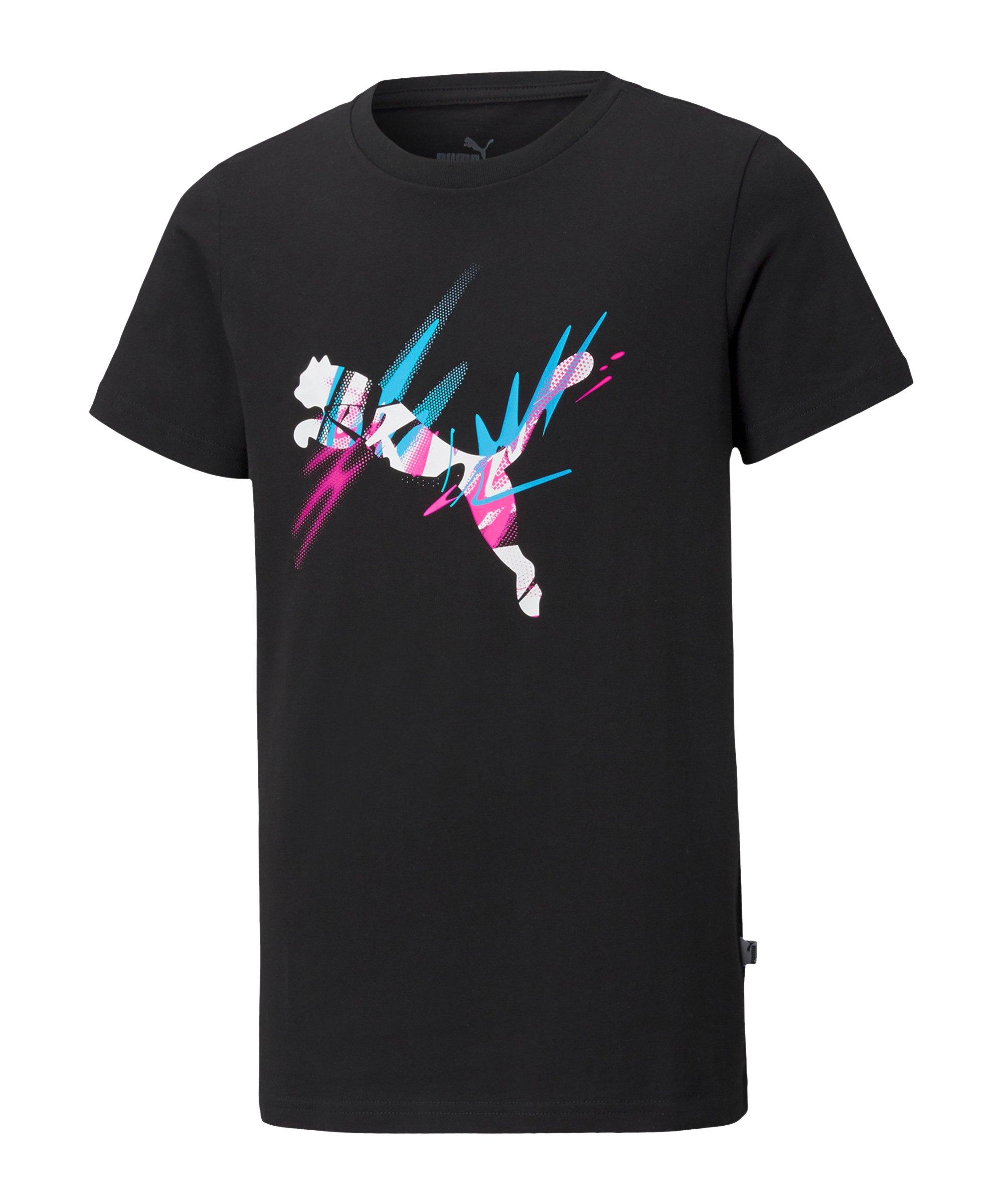 PUMA NJR CREATIVITY T-Shirt Kids Schwarz F01 - schwarz