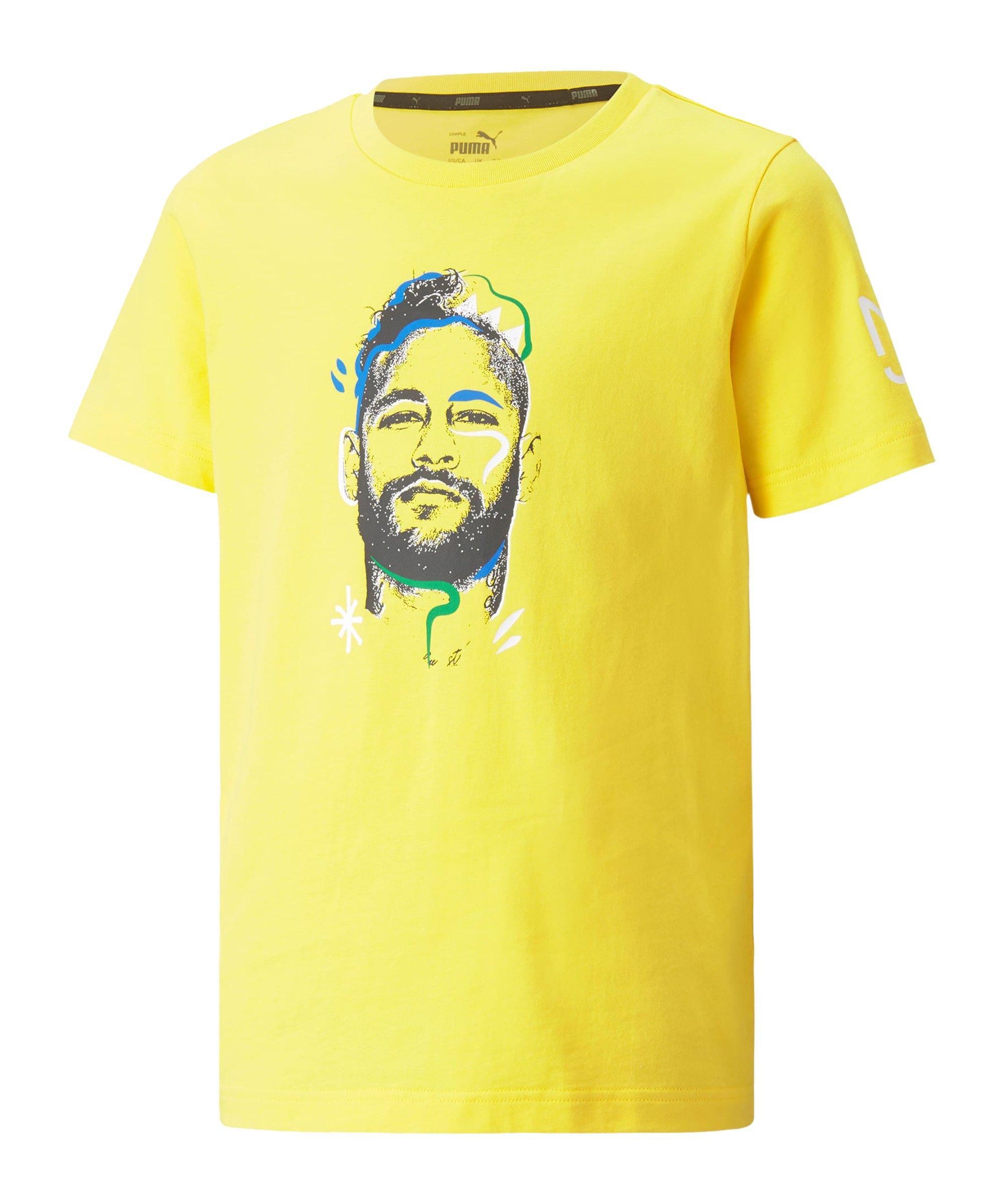 PUMA NJR Copa Graphic T-Shirt Kids Gelb F08 - gelb