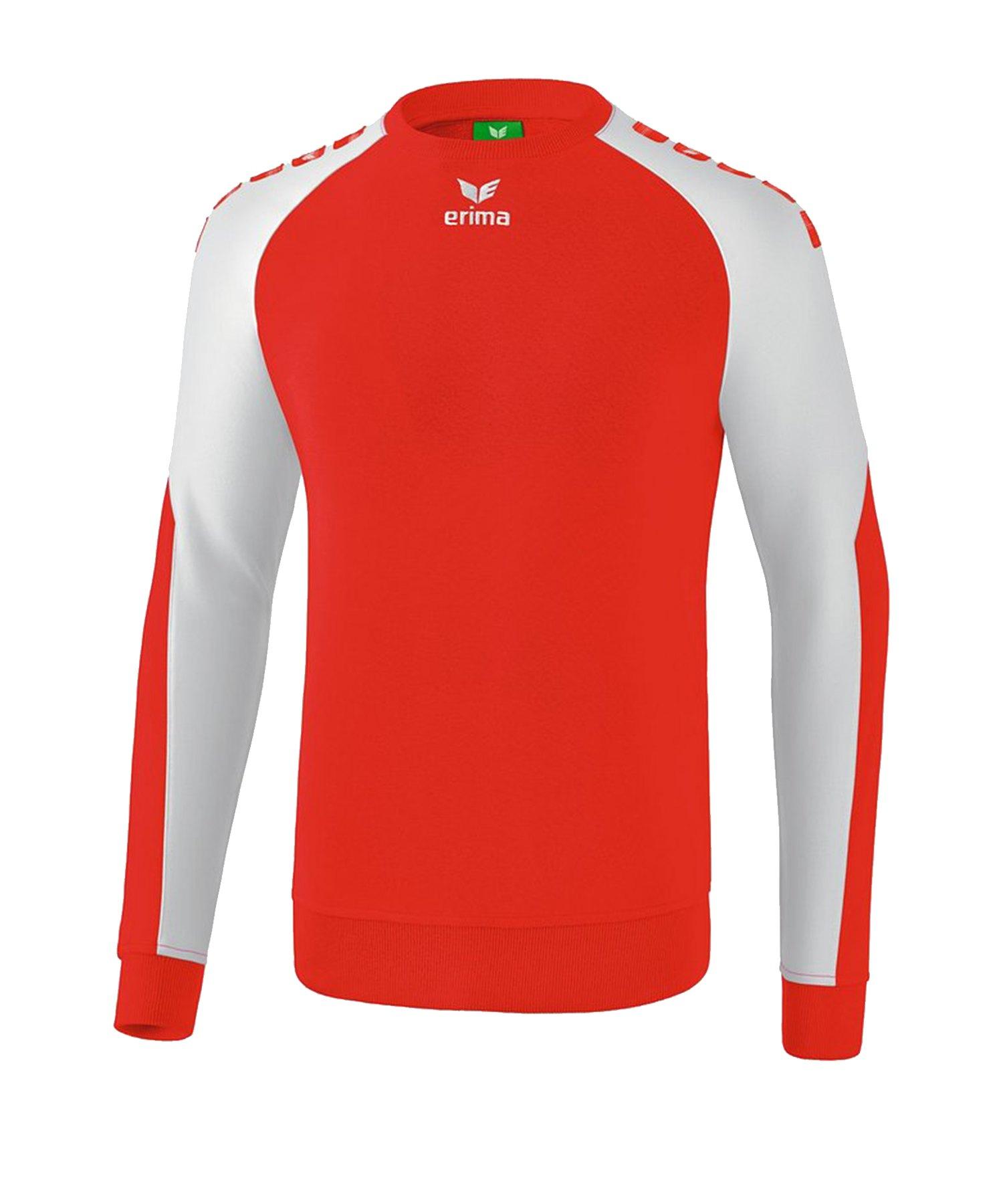 Erima Essential 5-C Sweatshirt Rot Weiss - Rot